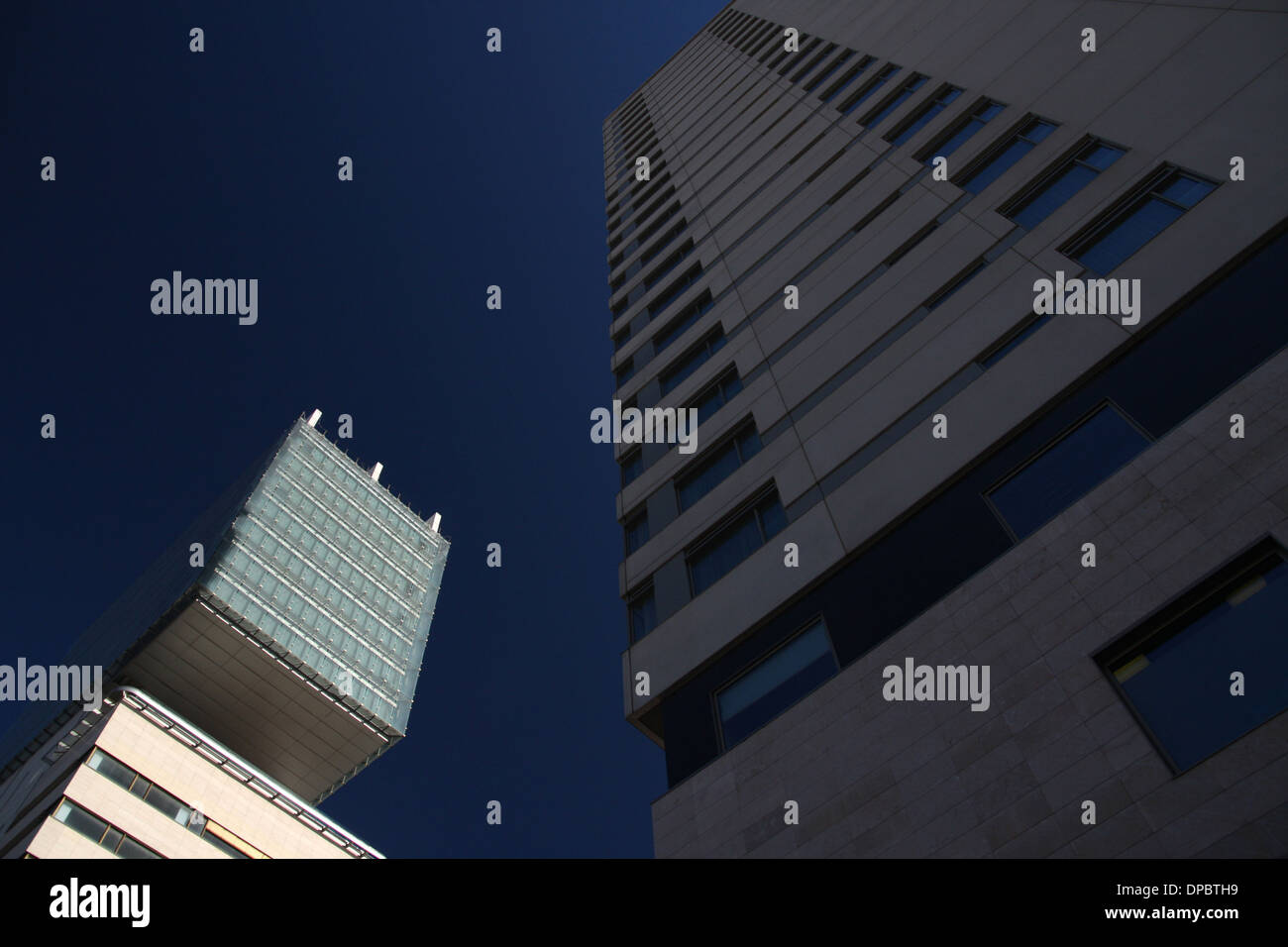 Hilton Diagonal Mar in Diagonal Mar suburb in Barcelona, Catalonia, Spain Stock Photo