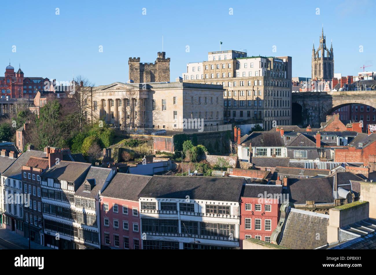 Newcastle upon Tyne skyline north east England UK Stock Photo