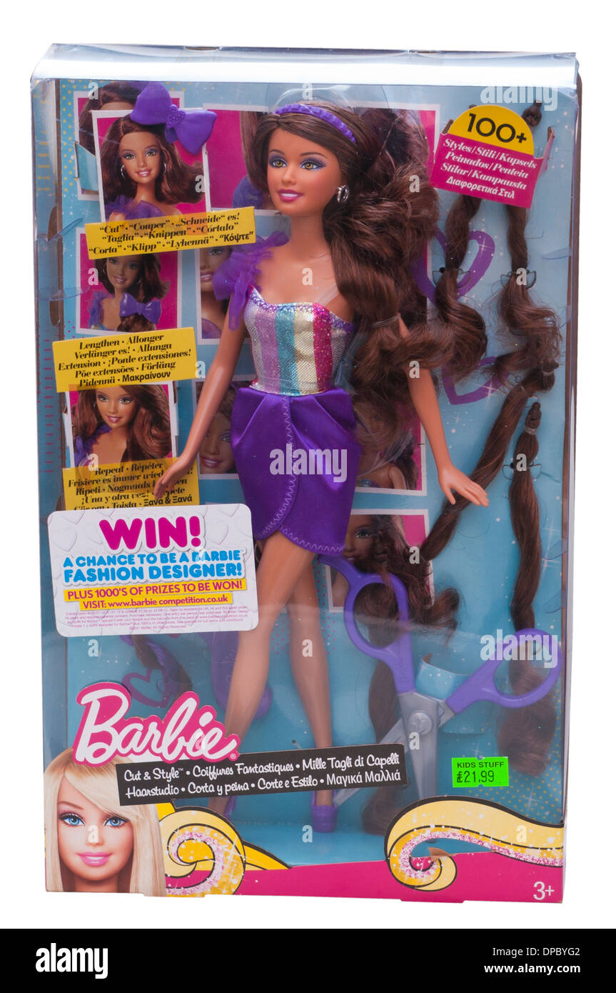 Boxed barbie Doll - Stock Image