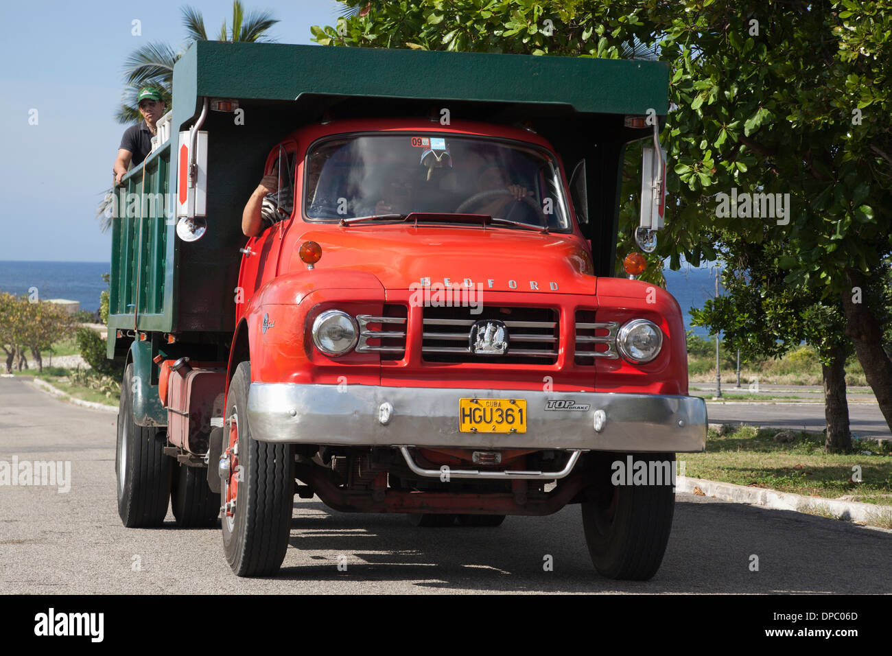 Immaculately maintained 1960s British Bedford TJ truck, among many vintage vehicles still surviving in Cuba, - Stock Image