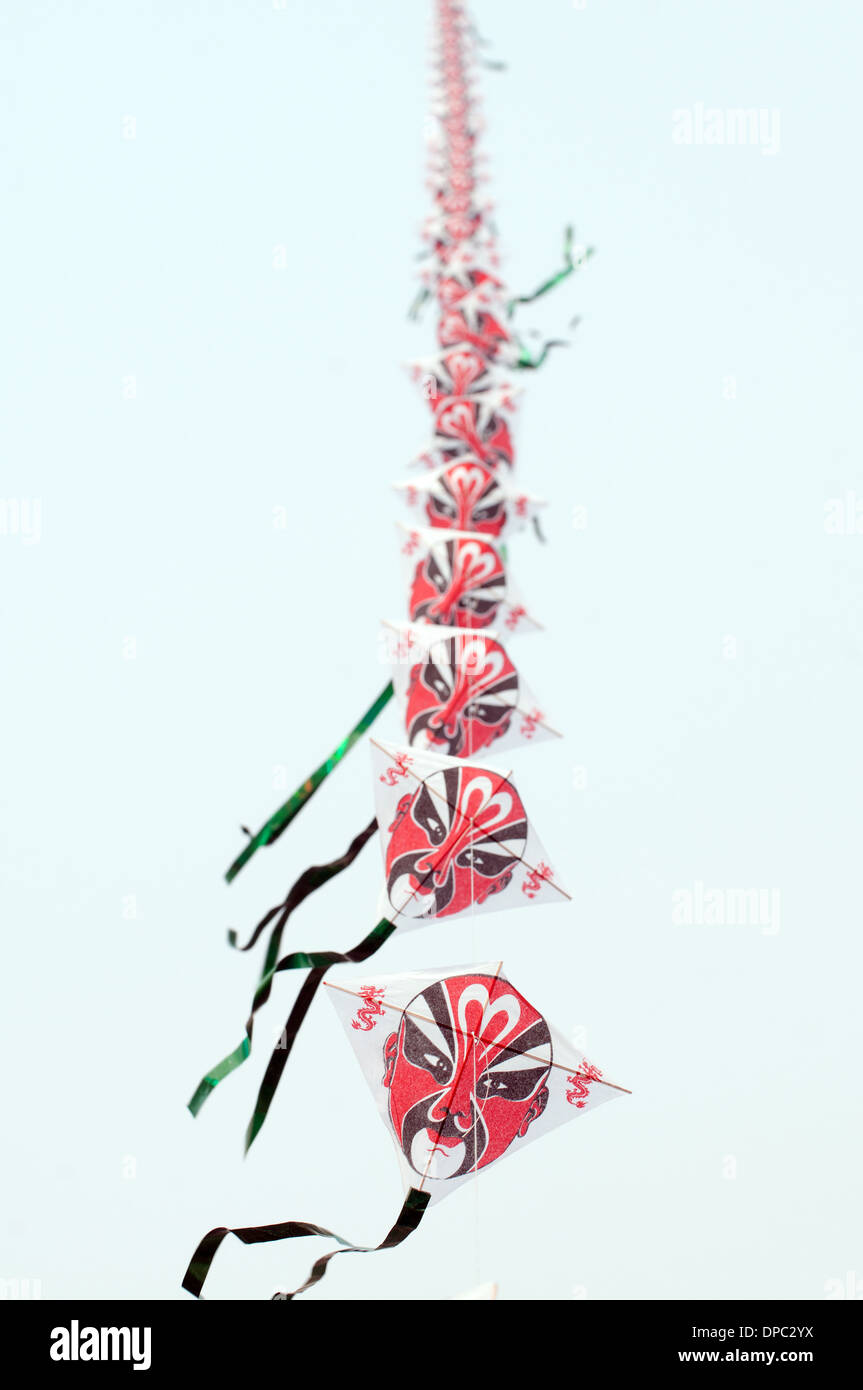 chinese kite with Beijing Opera Face (Lian Pu) Stock Photo