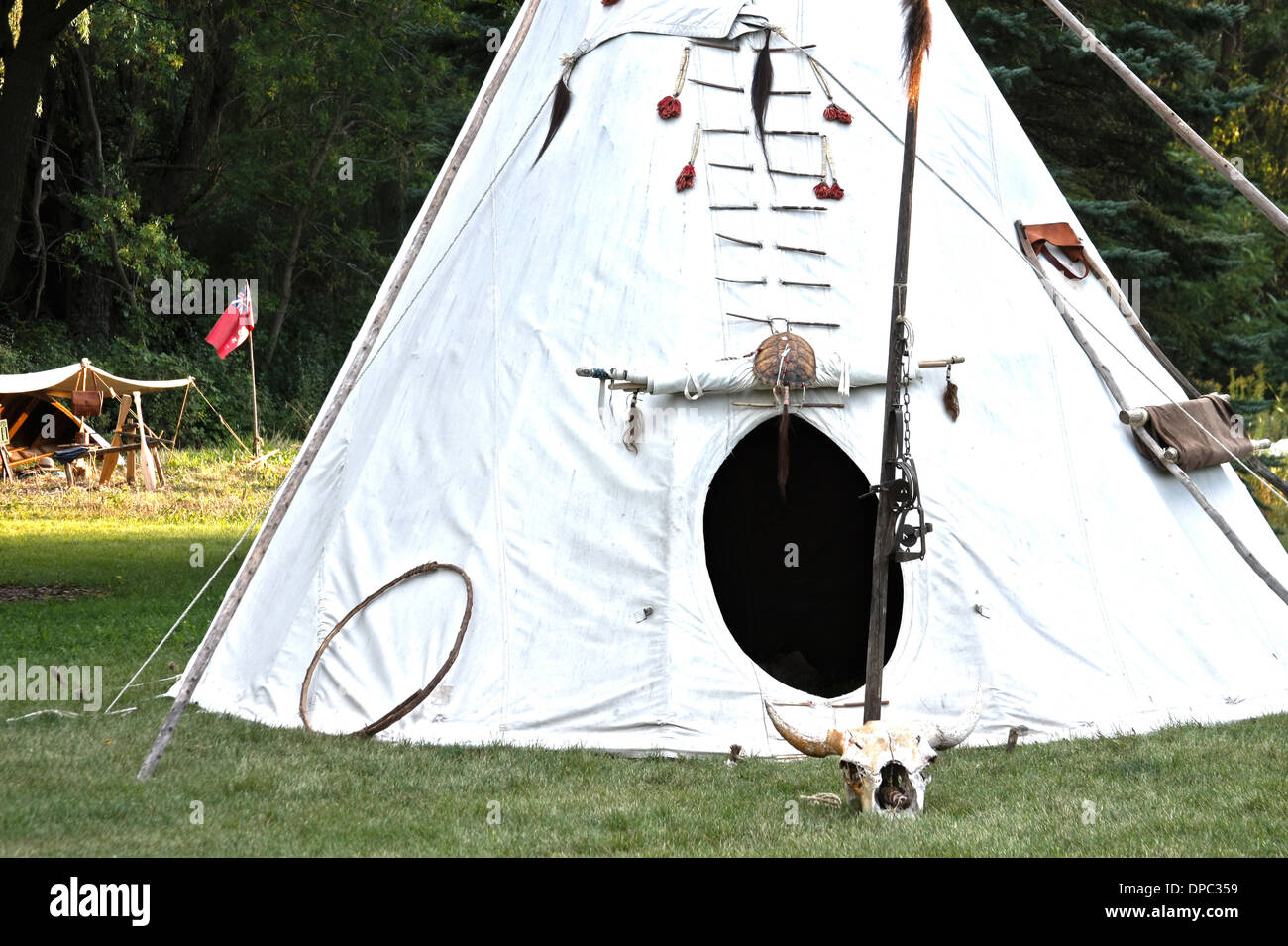 Native American Indian tipi - Stock Image