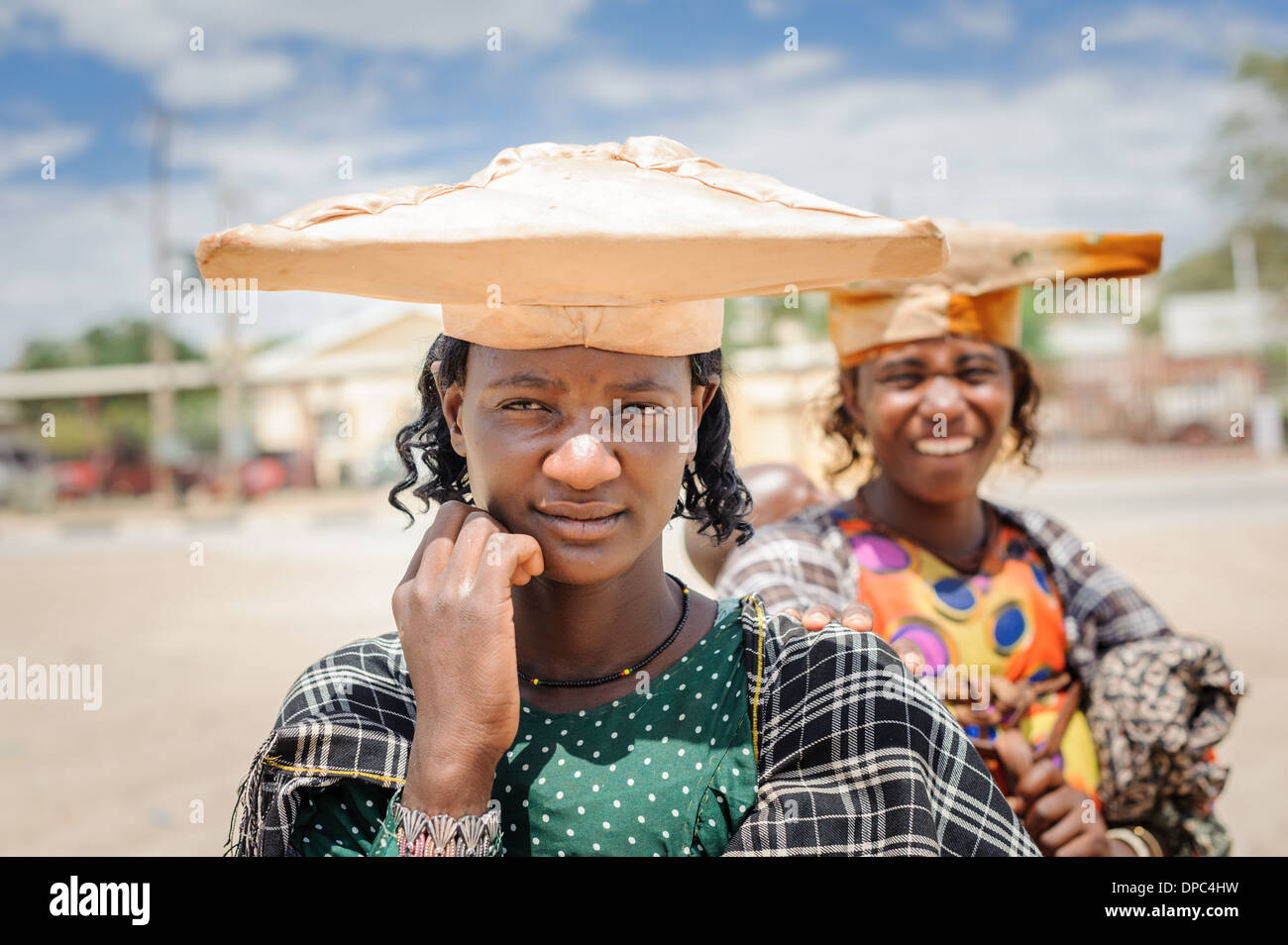 Herero woman, Kunene region, Namibia, Africa. - Stock Image