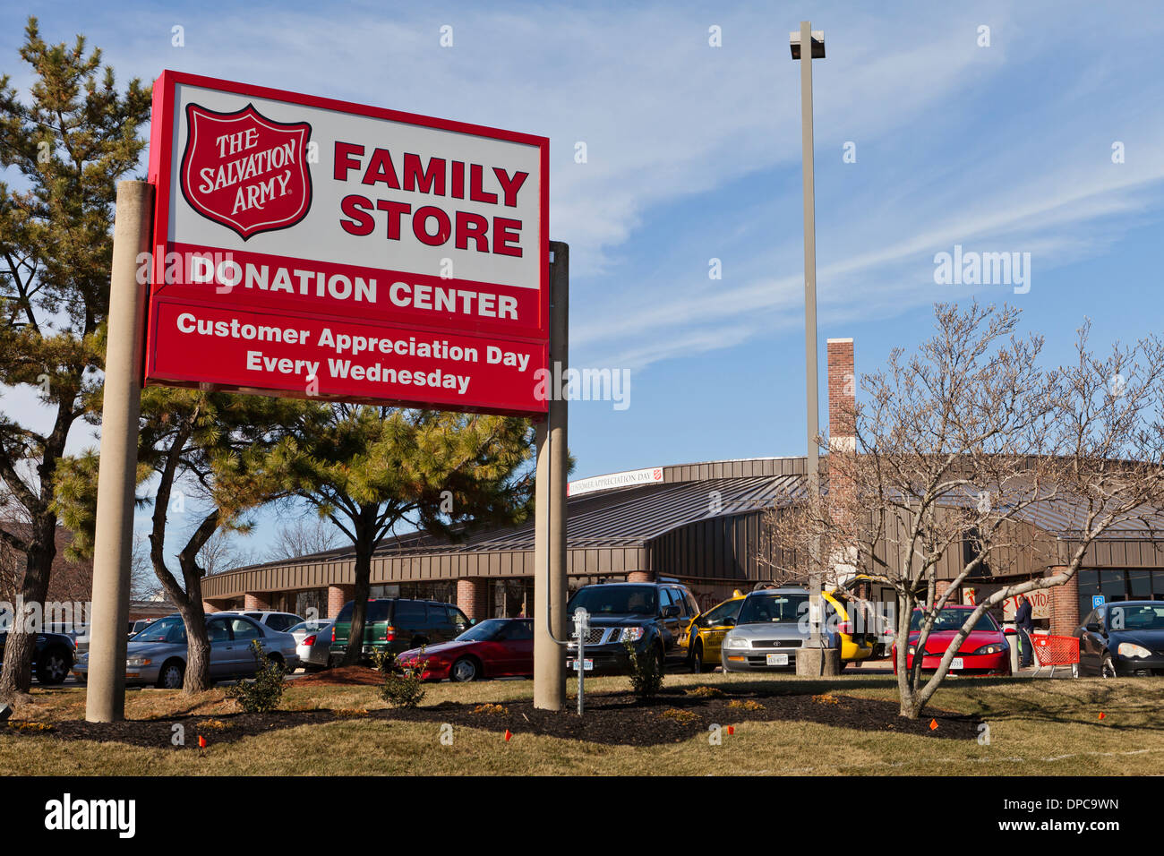 cb7234ad The Salvation Army family store and donation center sign - Virginia USA -  Stock Image
