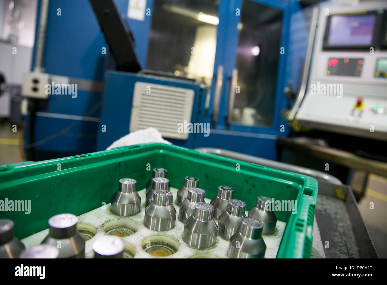 Quarter coin die manufacturing at the Philadelphia branch of the United States Mint.  - Stock Image