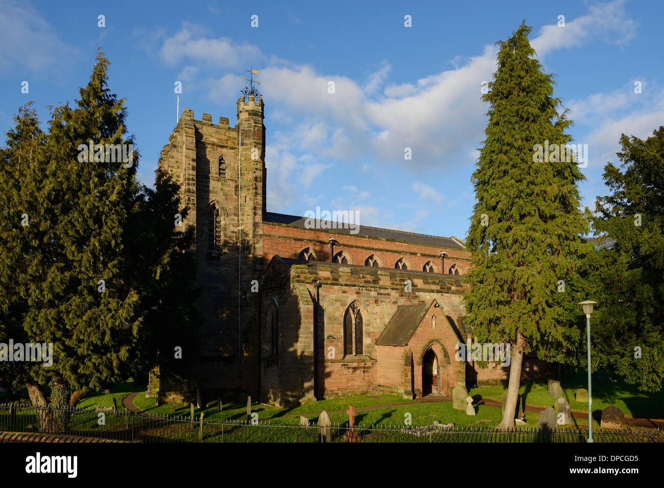 St Chads church in Lichfield city centre UK - Stock Image
