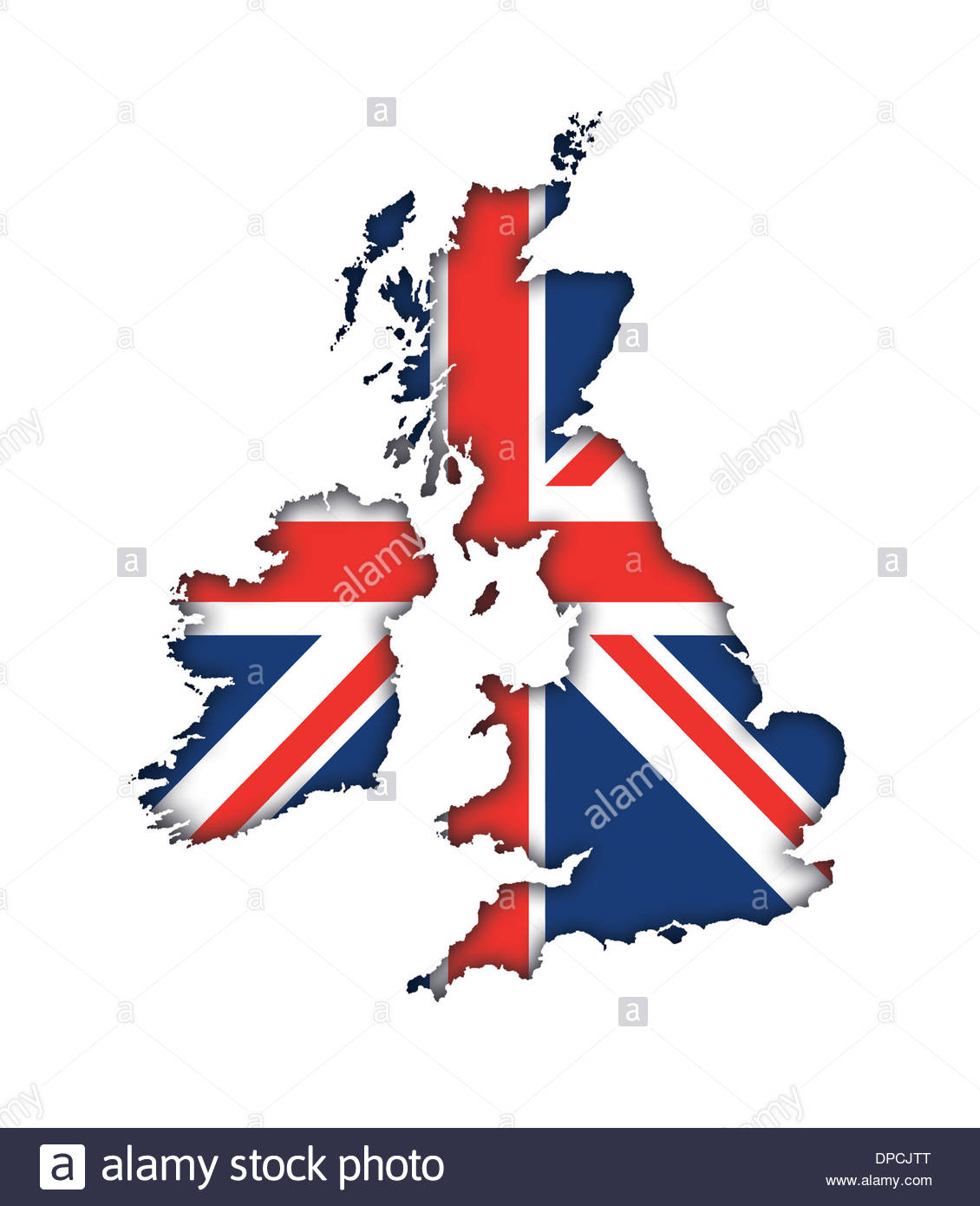 Great Britain England Uk Flag Map Banner Icon Logo Union Jack Stock