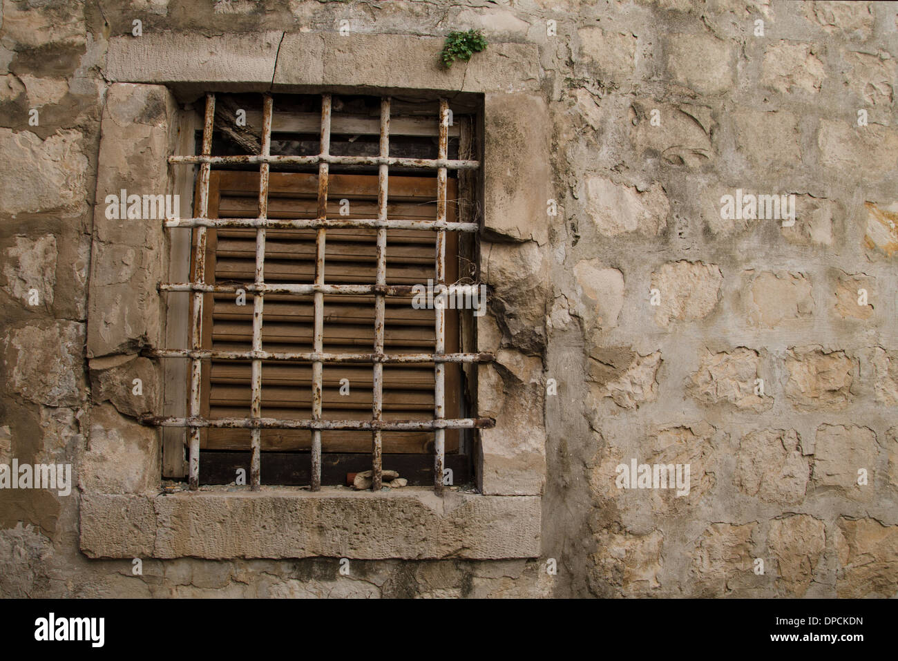 a beautiful old window. Stock Photo