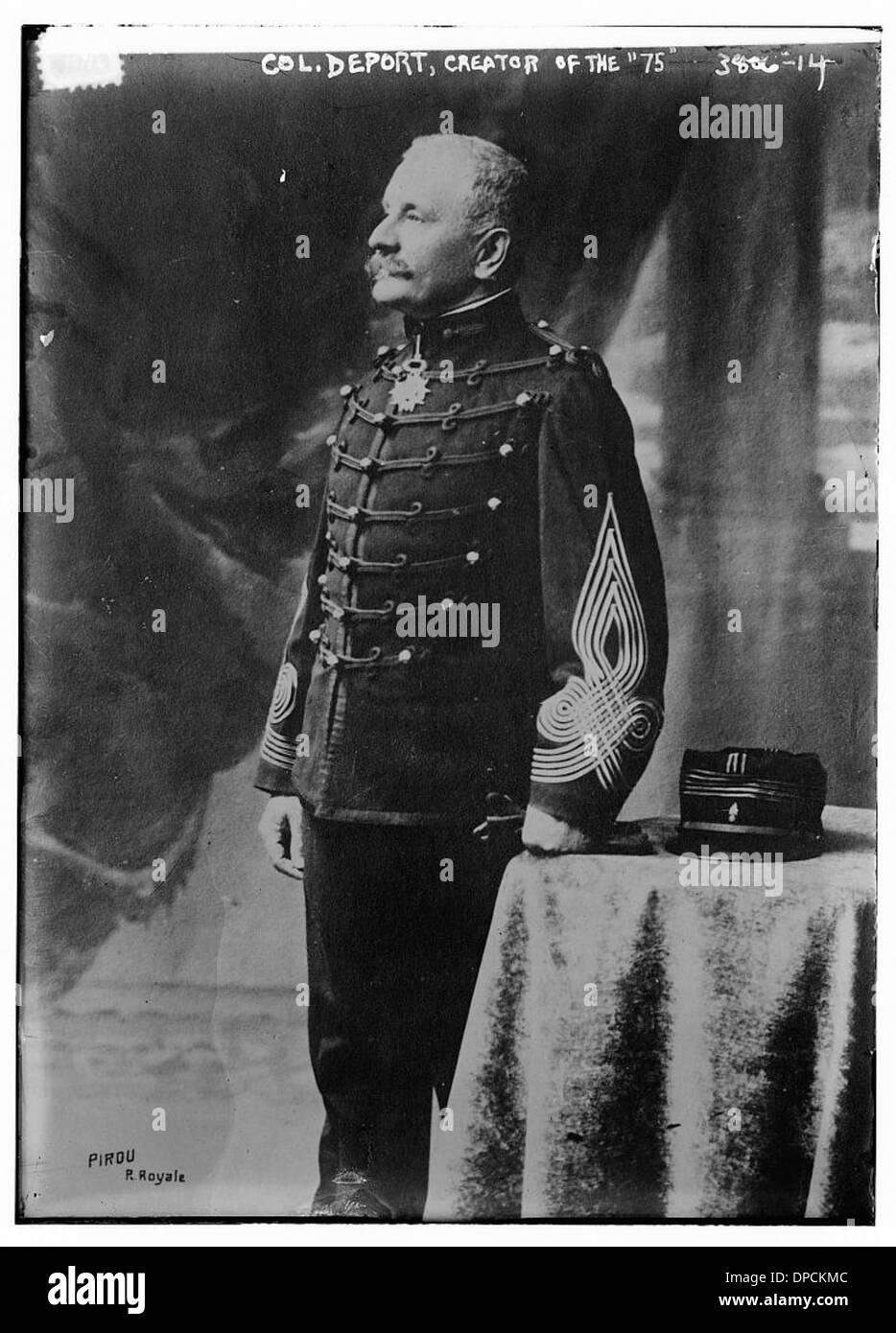 Col. Deport, Creator of the '75' (LOC) - Stock Image