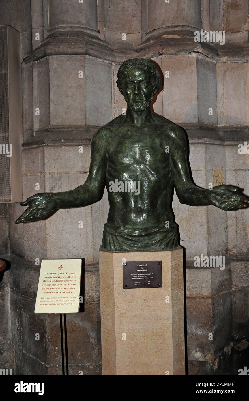 'Christus' by Hans Feibusch. Ely Cathedral. - Stock Image