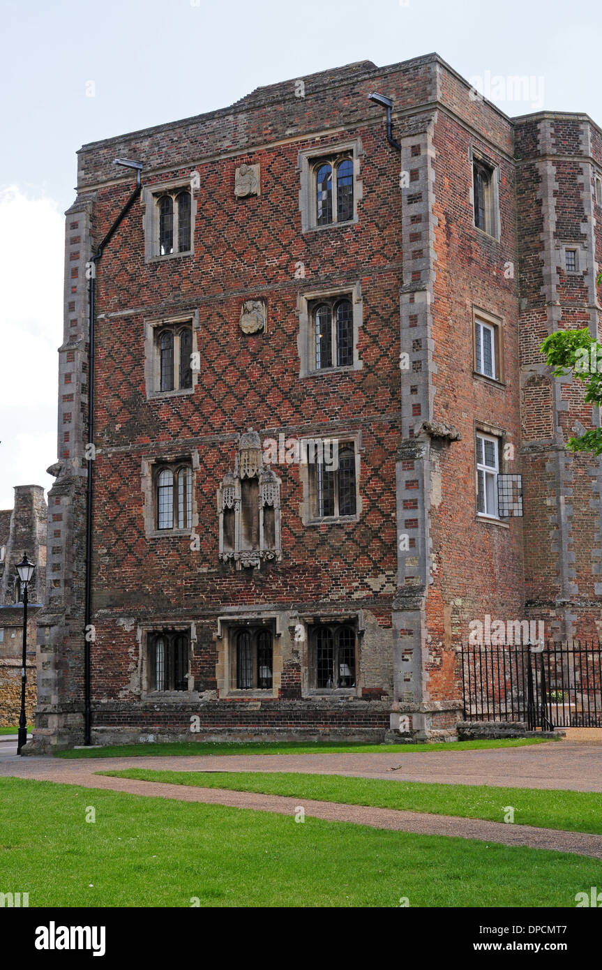 Part of The Old Palace, Ely, now The King's School. - Stock Image