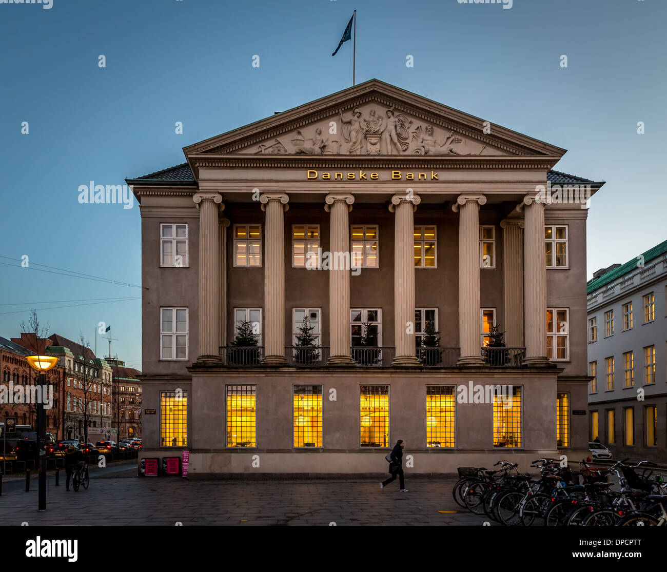 Head office for Danske Bank , Kongens Nytorv, Copenhagen, Denmark - Stock Image