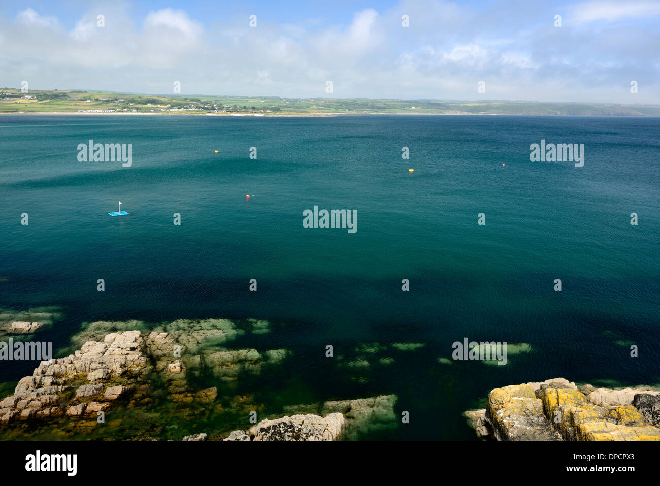 Ardmore bay waterford ireland summer - Stock Image