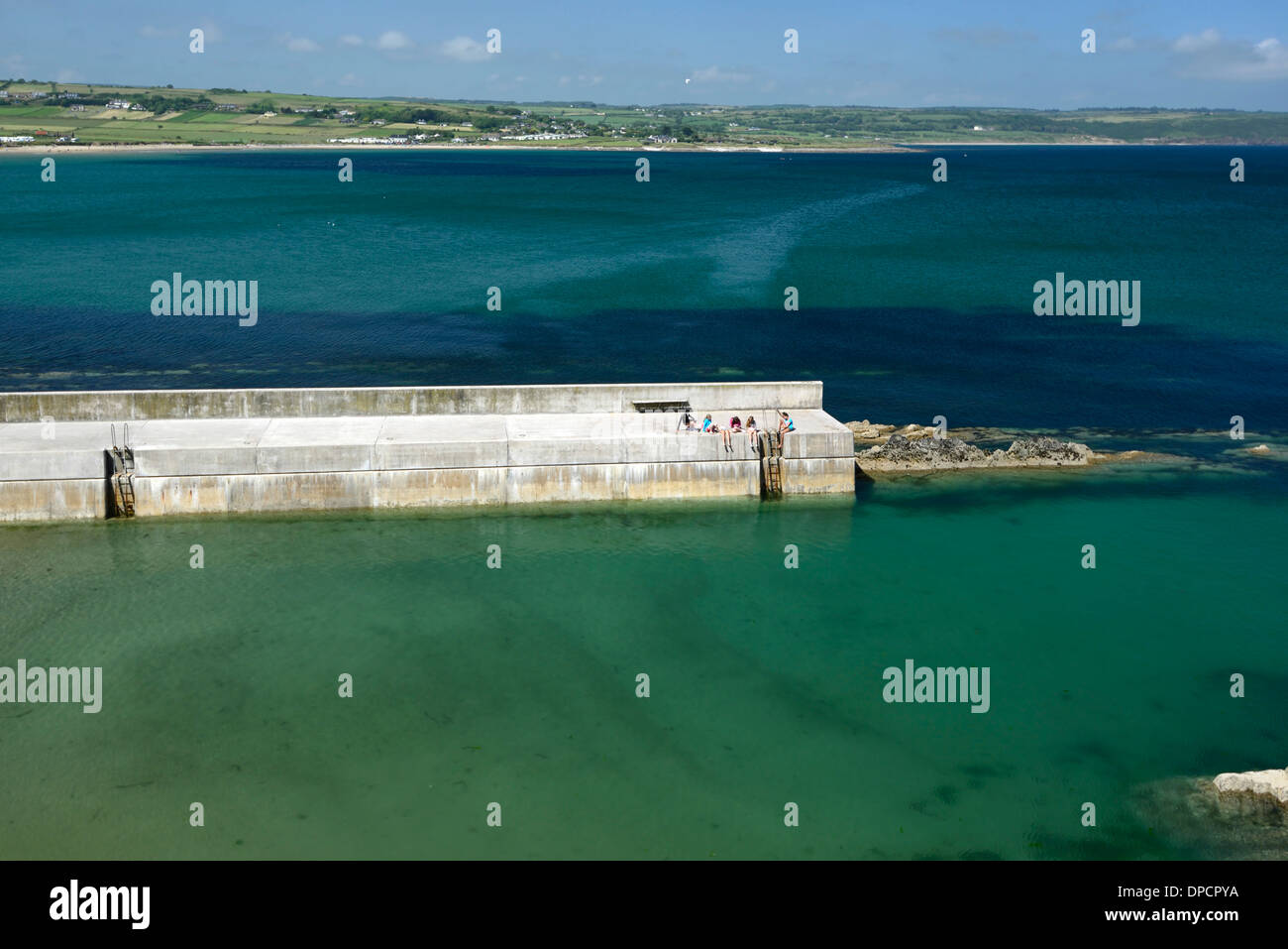 Ardmore bay harbour waterford ireland summer - Stock Image