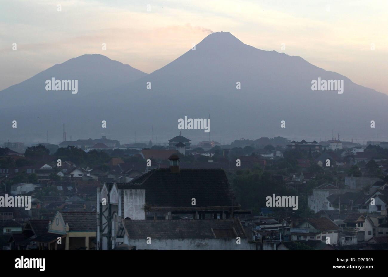 Yogyakarta near Mt Merapi Indonesia volcano - Stock Image