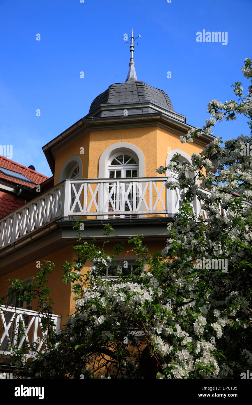 Villa in Weimar,  Thuringia, Germany, Europe - Stock Image