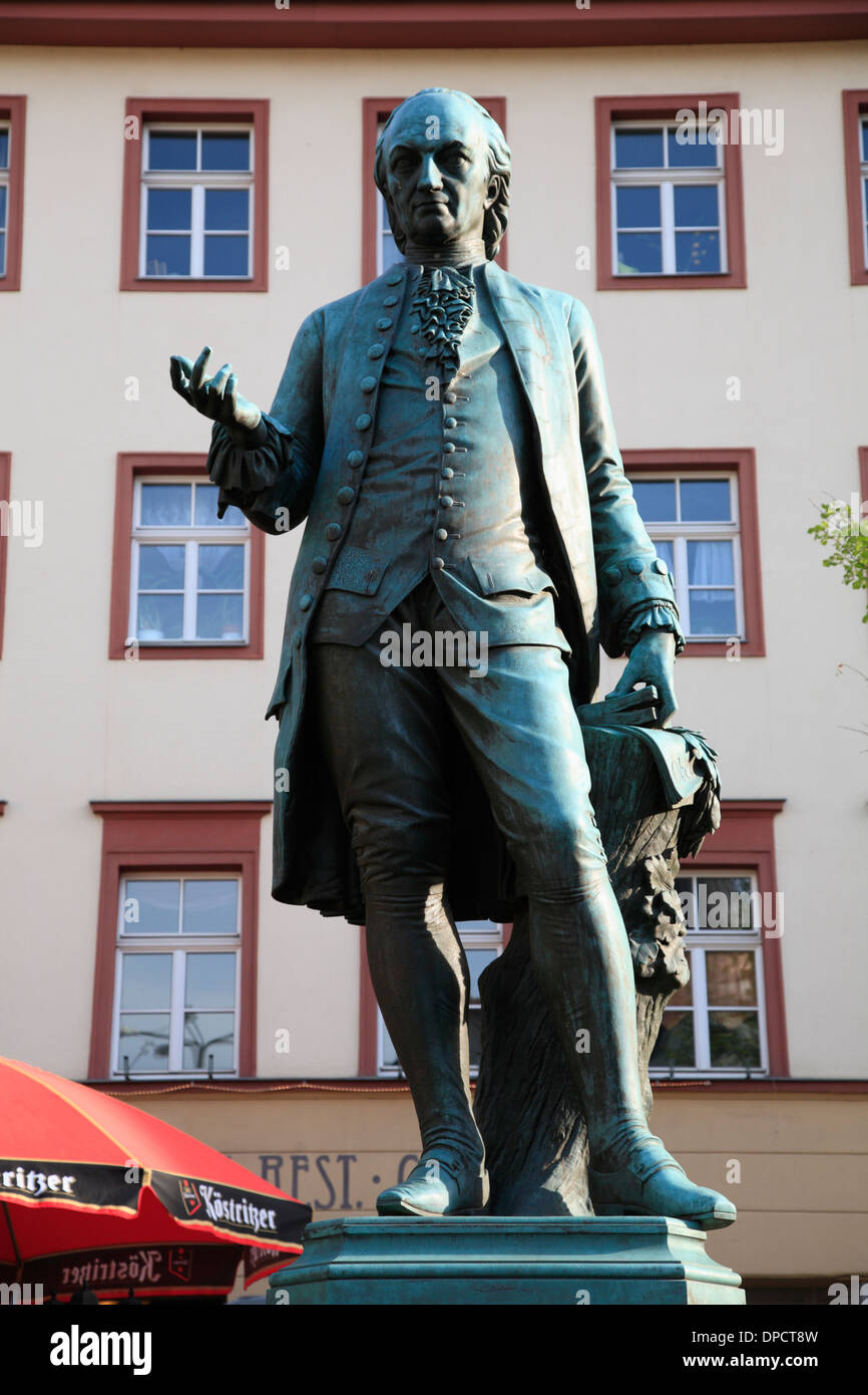 Wieland monument,  Weimar, Thuringia, Germany, Europe - Stock Image