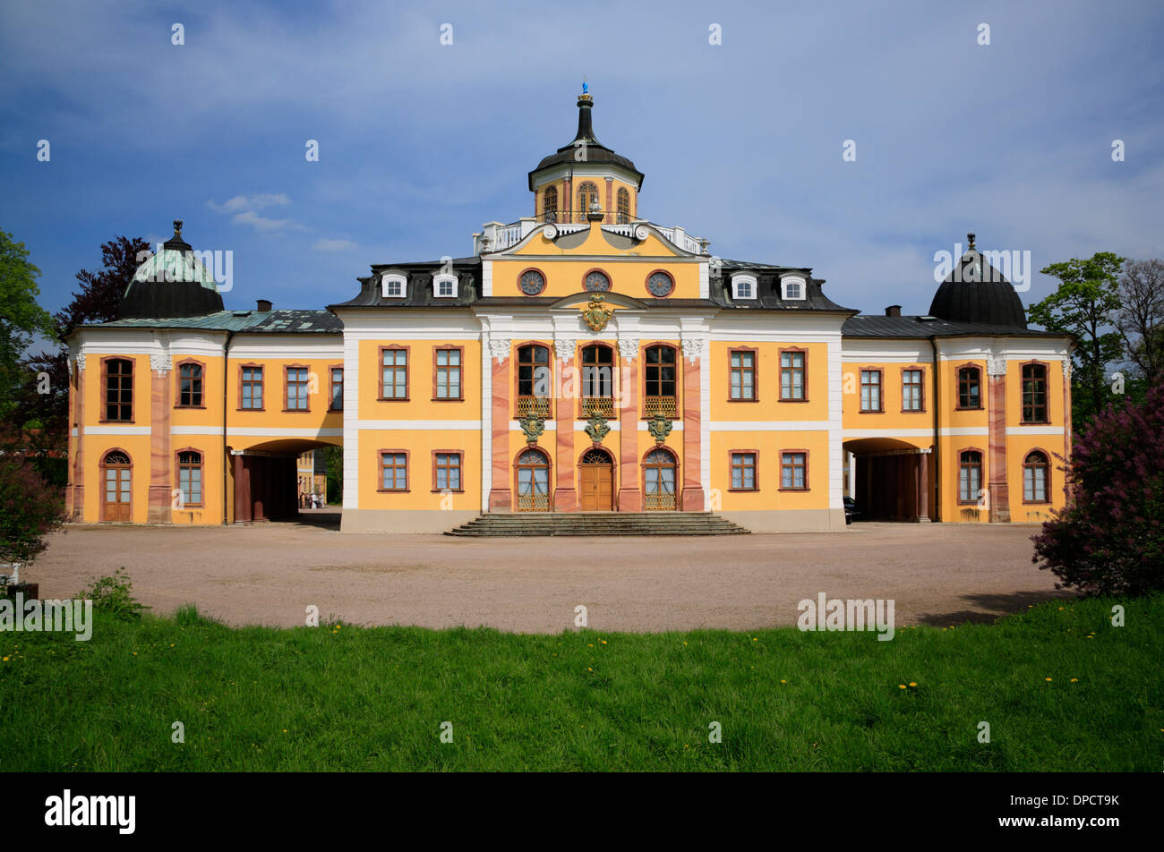 Belvedere Castle, Weimar, Thuringia, Germany, Europe - Stock Image