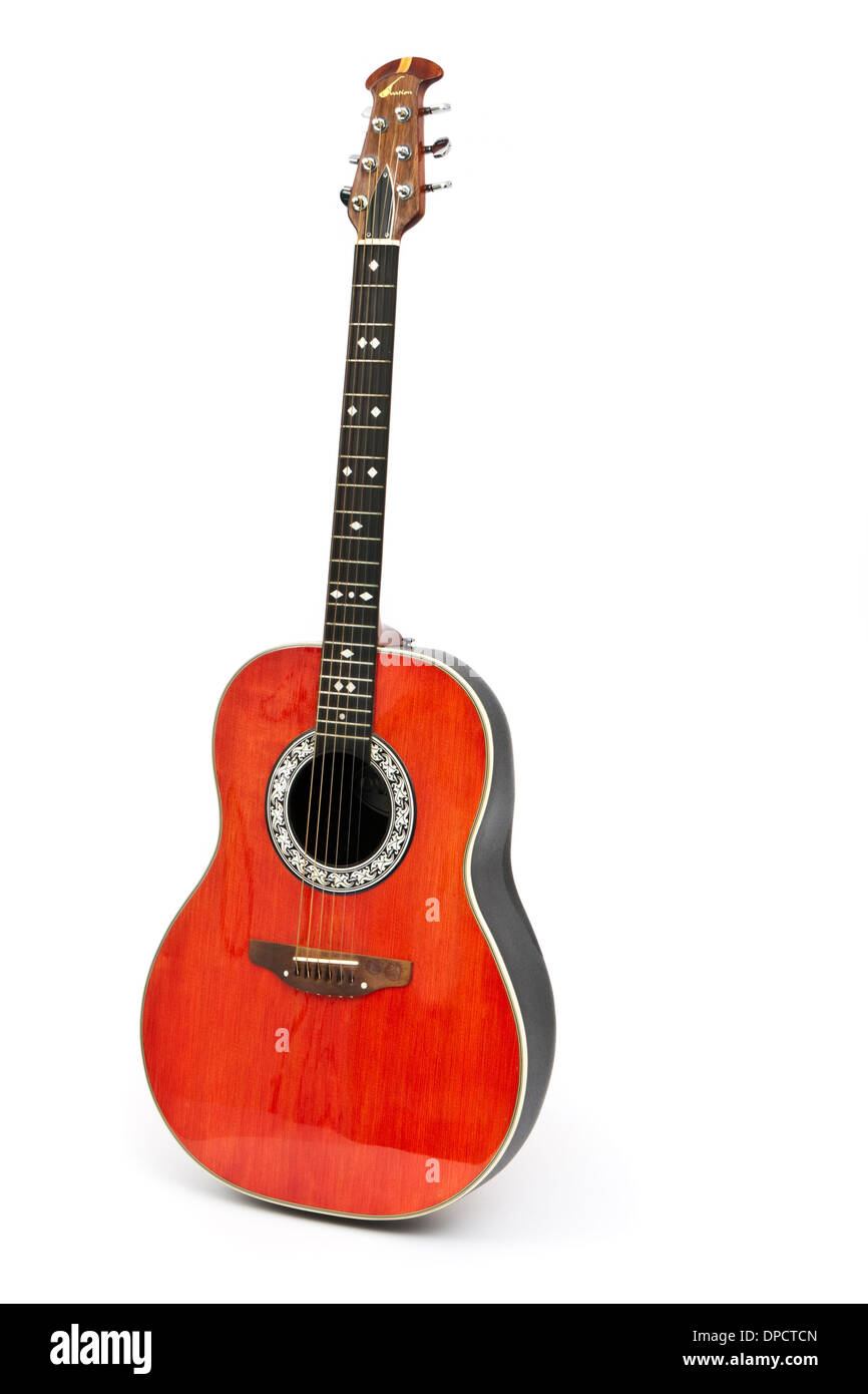Vintage Ovation 1112 Custom Balladeer guitar - Stock Image