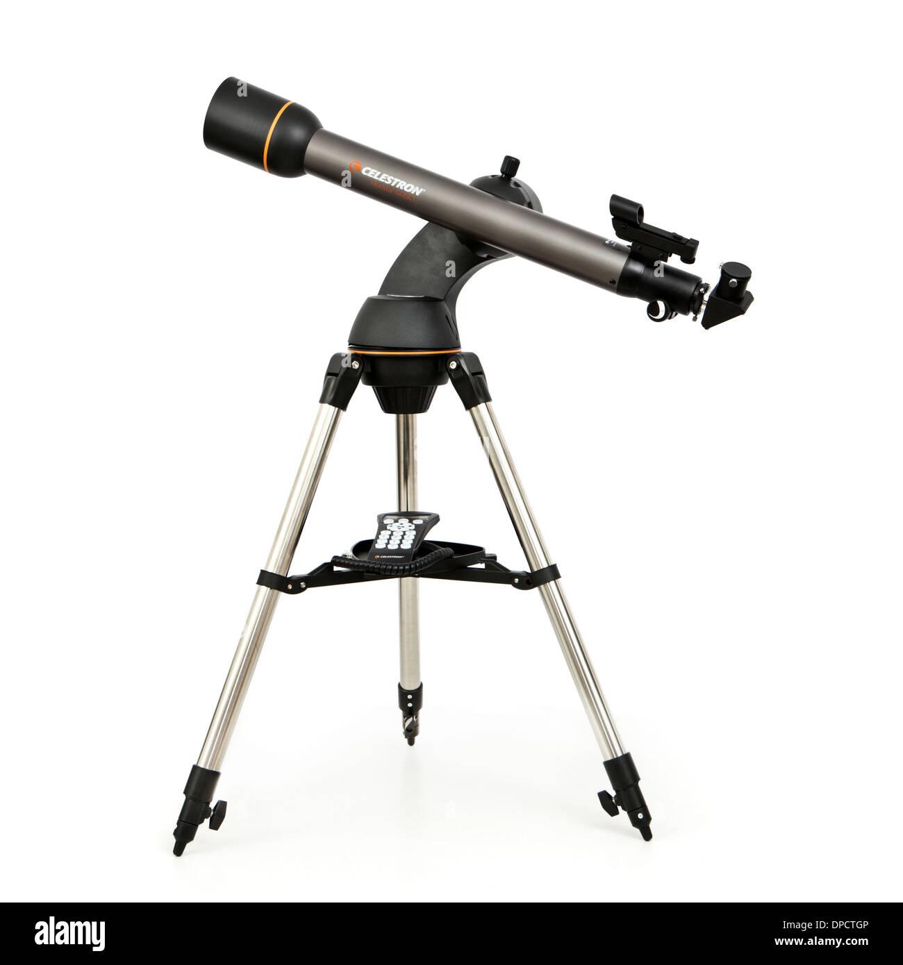 Celestron NexStar 60SLT Motorized Refracting Telescope - Stock Image