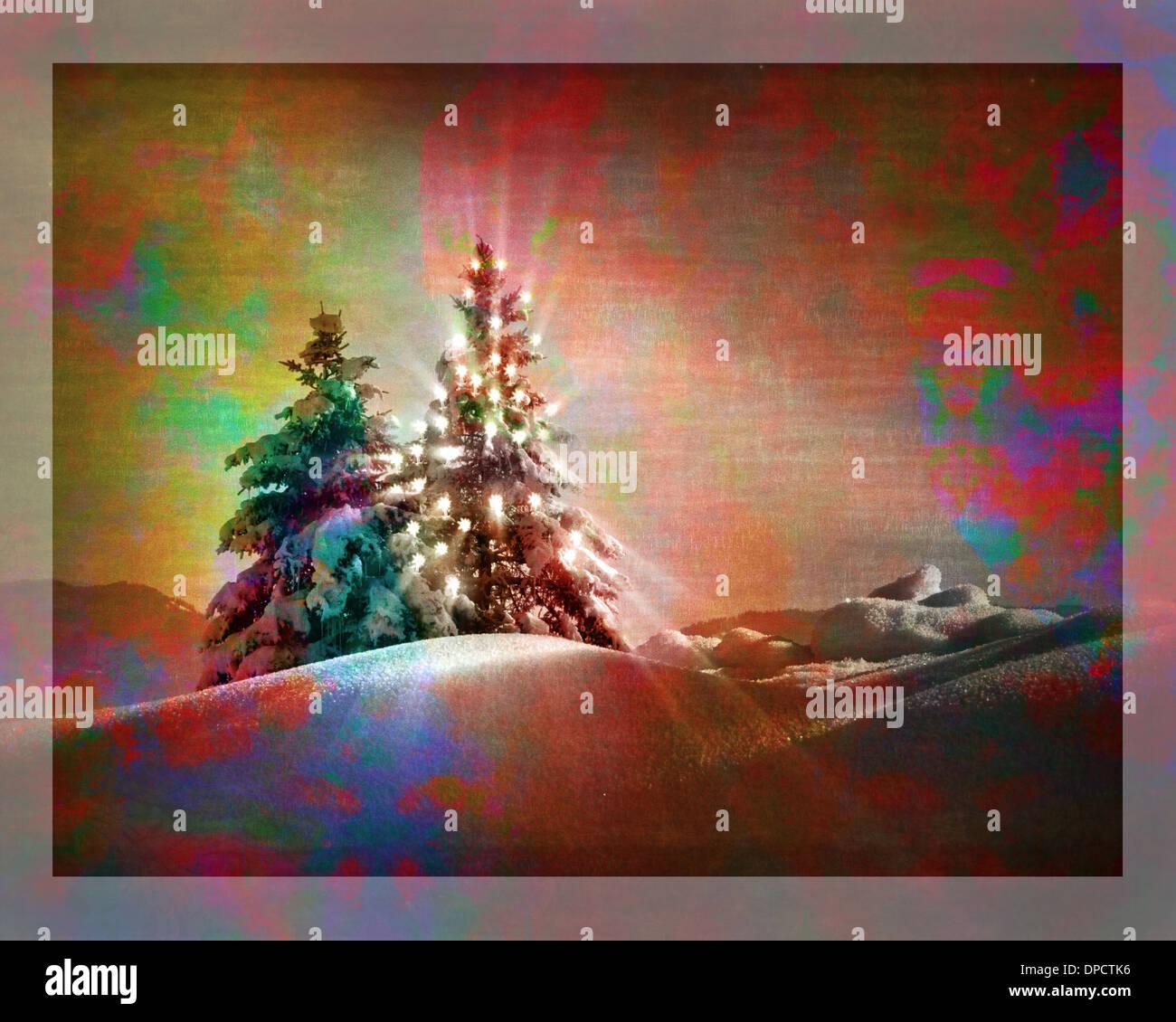 DIGITAL ART: Season's Greetings - Stock Image