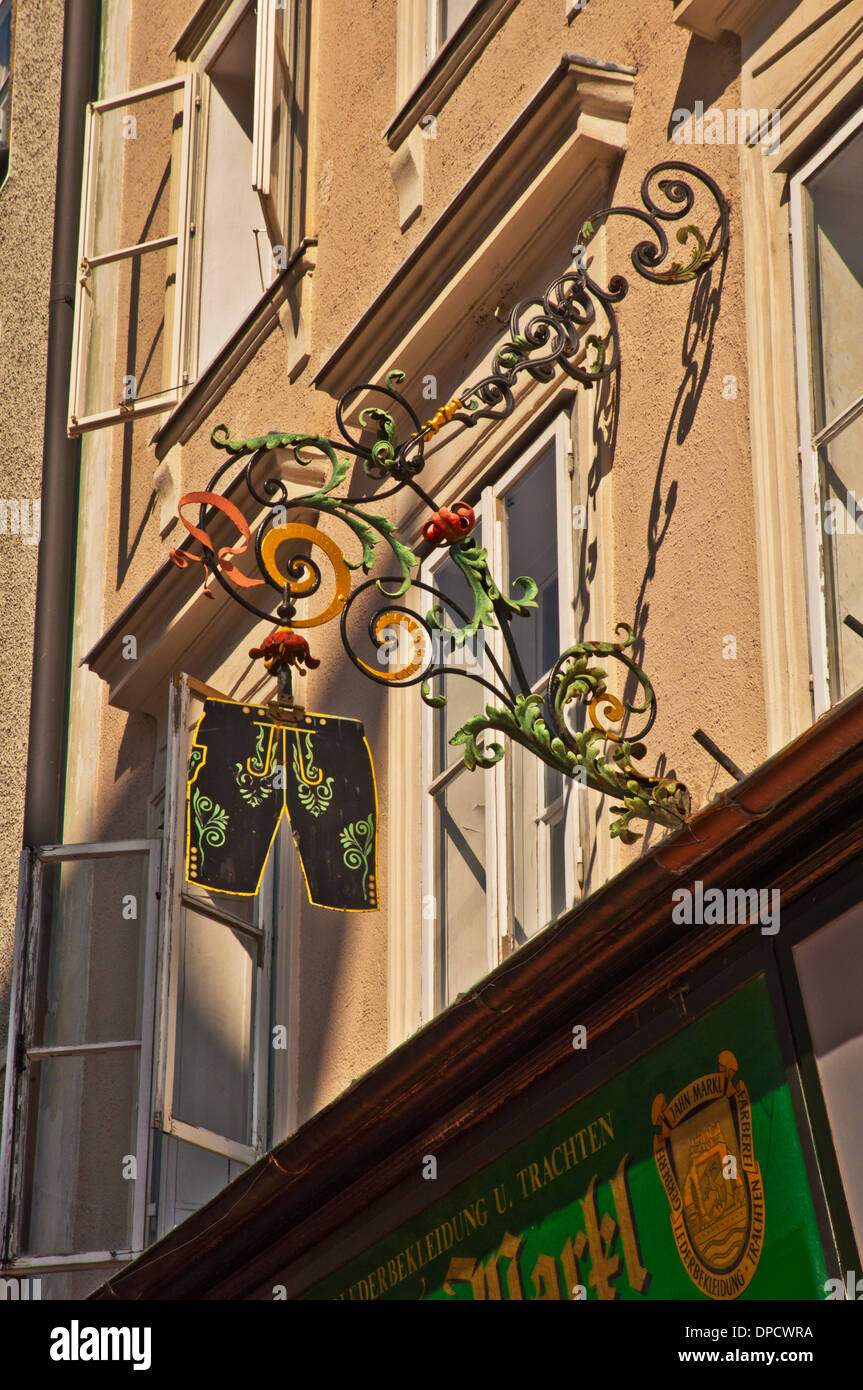 store sign Salzburg Austria - Stock Image