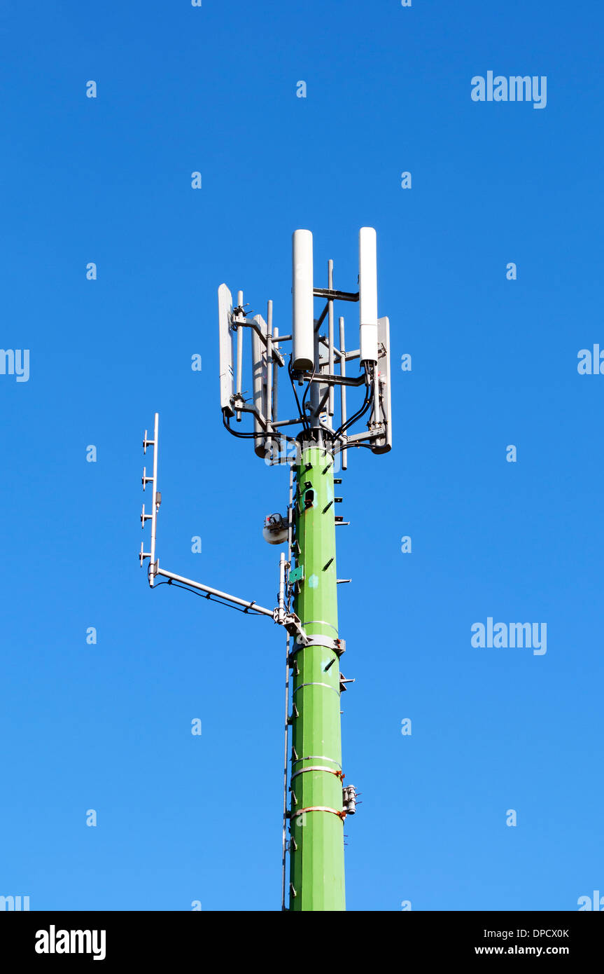 a mobile phone  transmitter mast - Stock Image