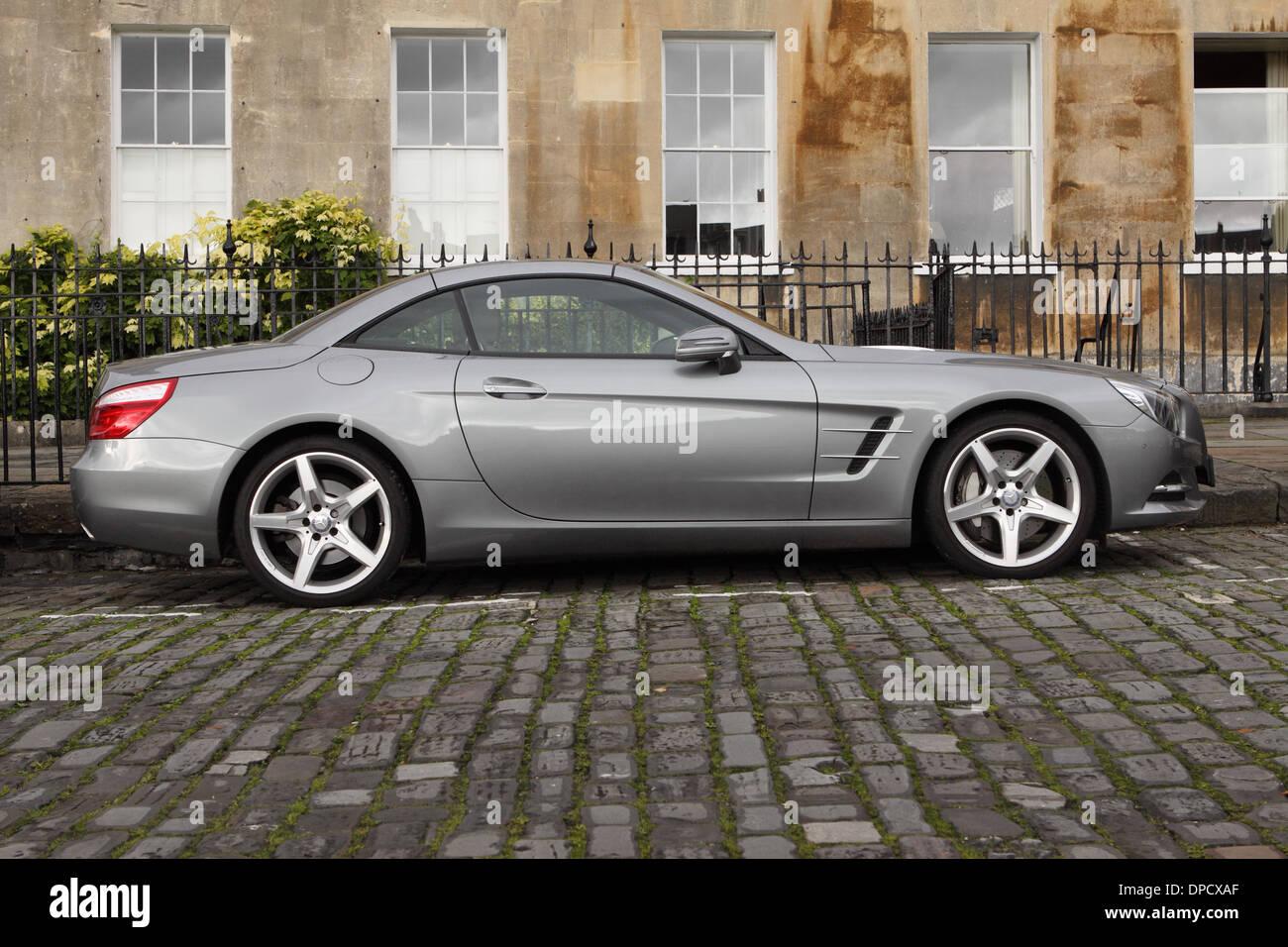 Mercedes Sl Grand Tourer 2 Door Sports Car Parked In Royal Crescent