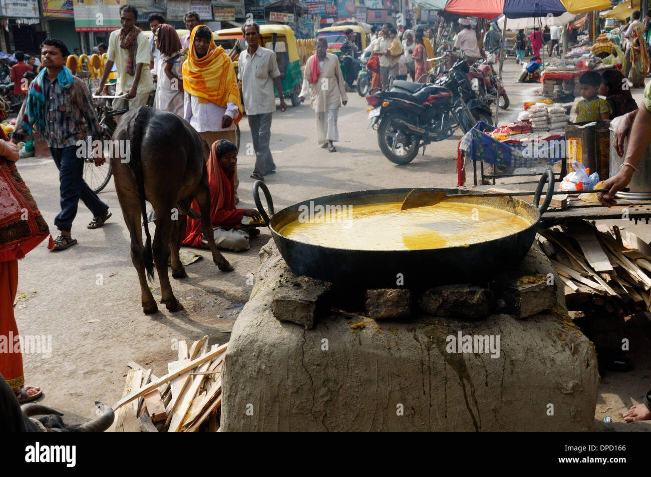 Street food in India - Stock Image