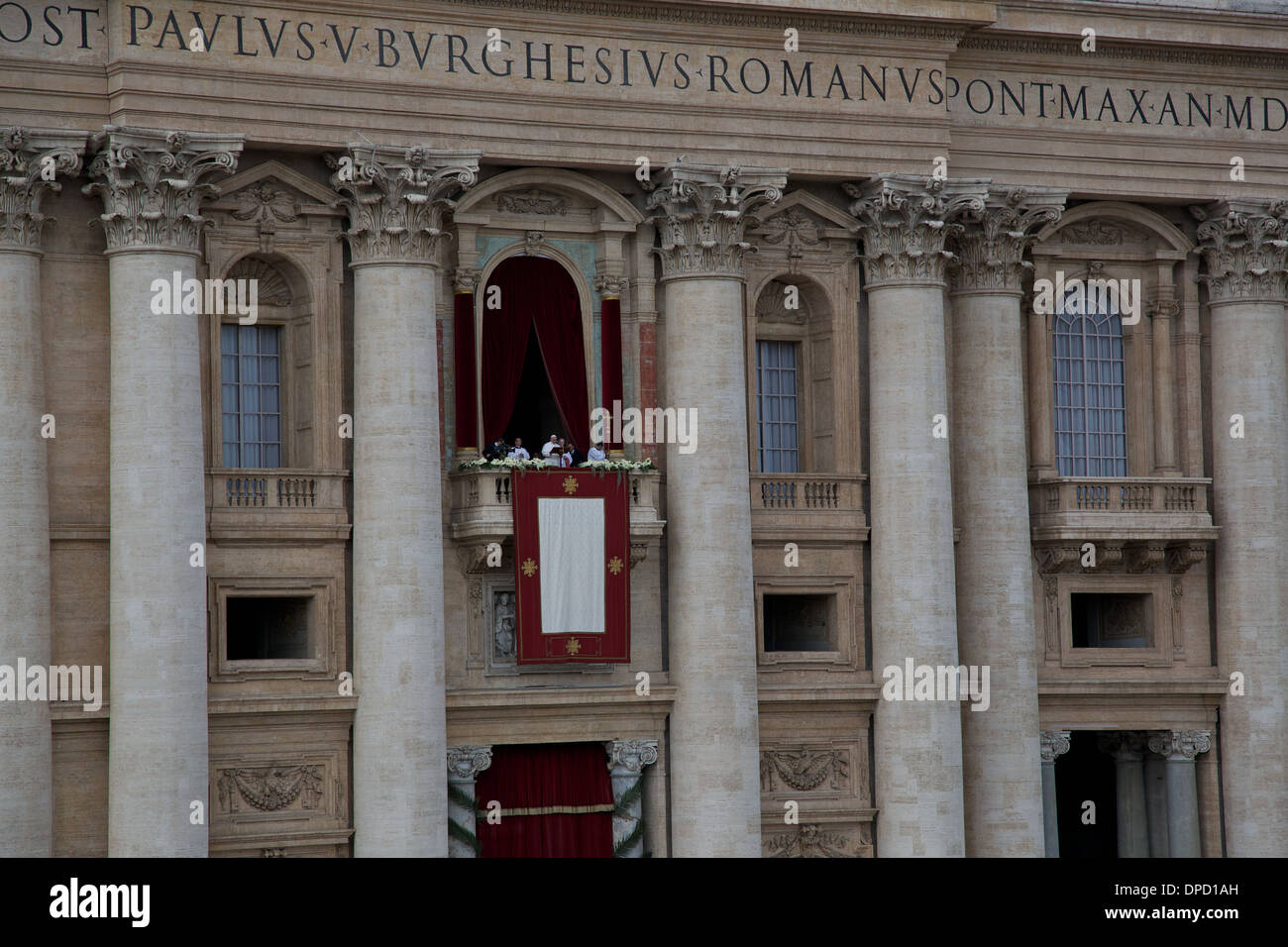 Pope Francis delivers Easter Message Saint Peter's Basilica, the first  Easter Blessing by Pope Francis, Vatican City Rome Italy