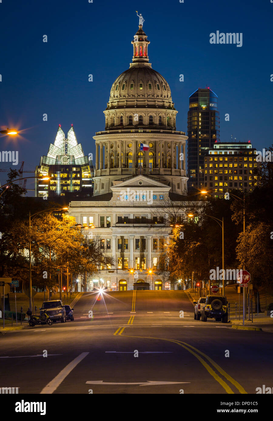 The Texas State Capitol, located in downtown Austin, Texas Stock Photo