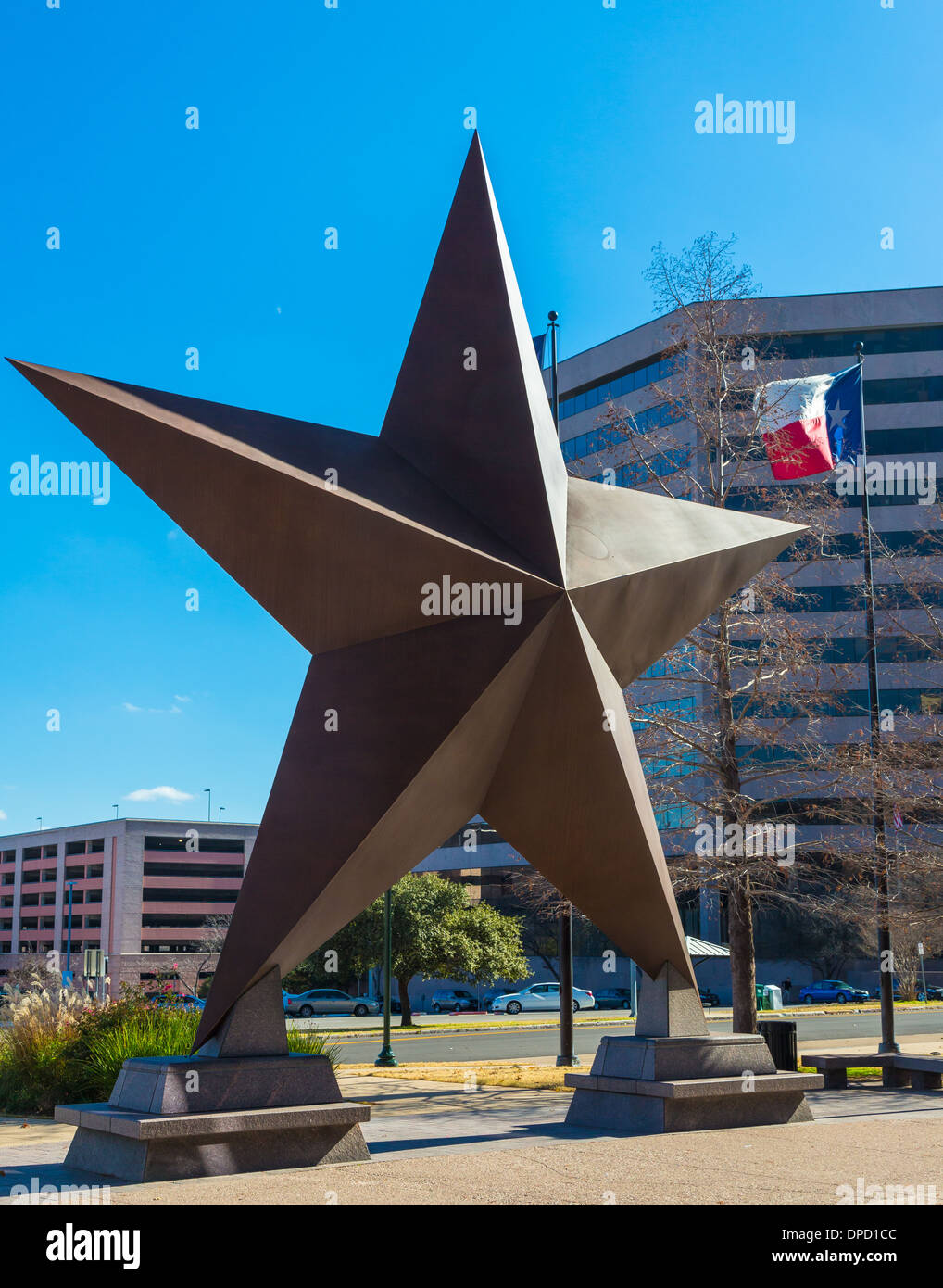 The Bullock Texas State History Museum, is a history museum in Austin, Texas - Stock Image