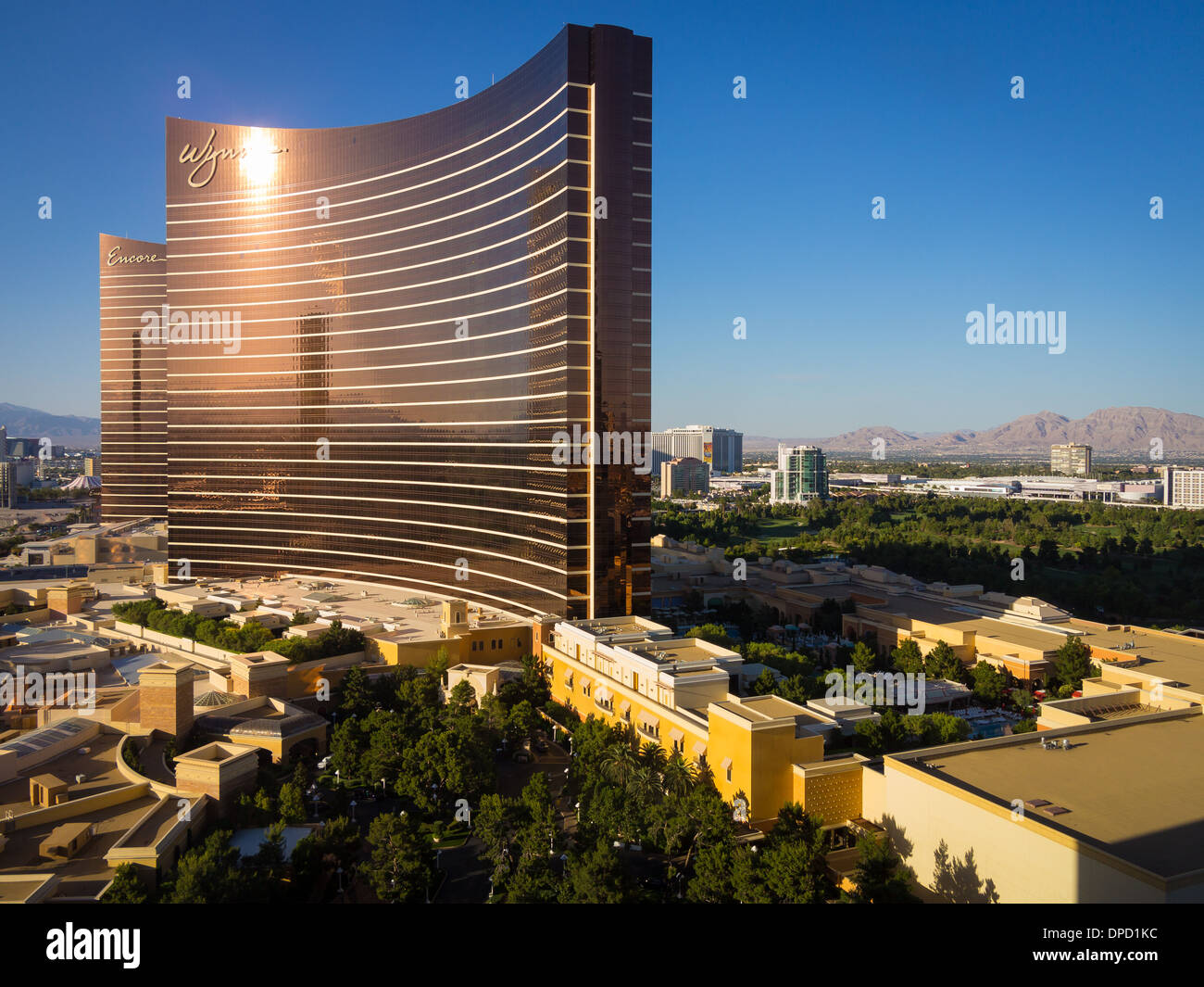 Hotels along 'The Strip' in Las Vegas, Nevada - Stock Image