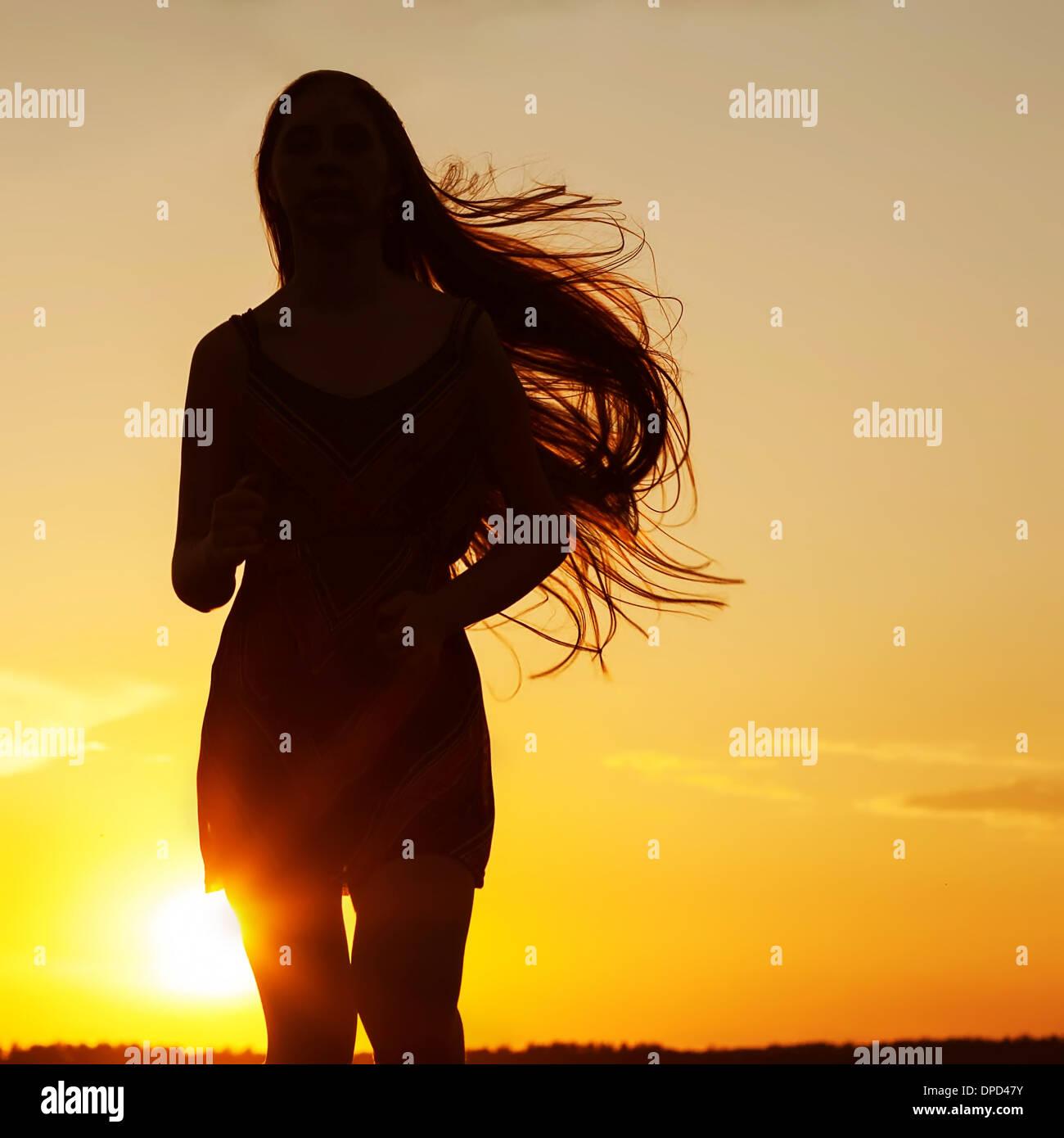 Free Happy Woman Enjoying Nature Beauty Girl Outdoor Freedom Stock Photo Alamy