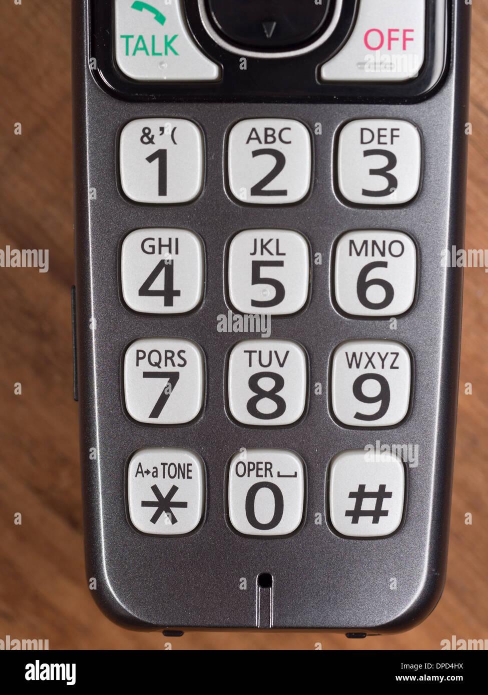 cellphone / cordless telephone keypad - Stock Image