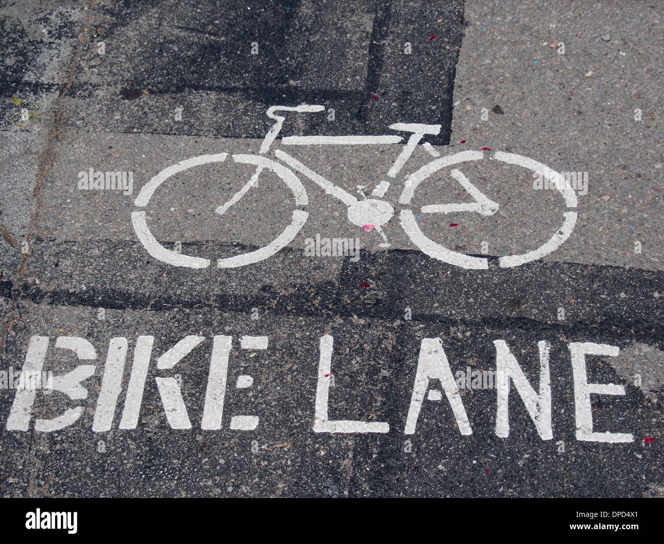 Bike Lane sign - Stock Image