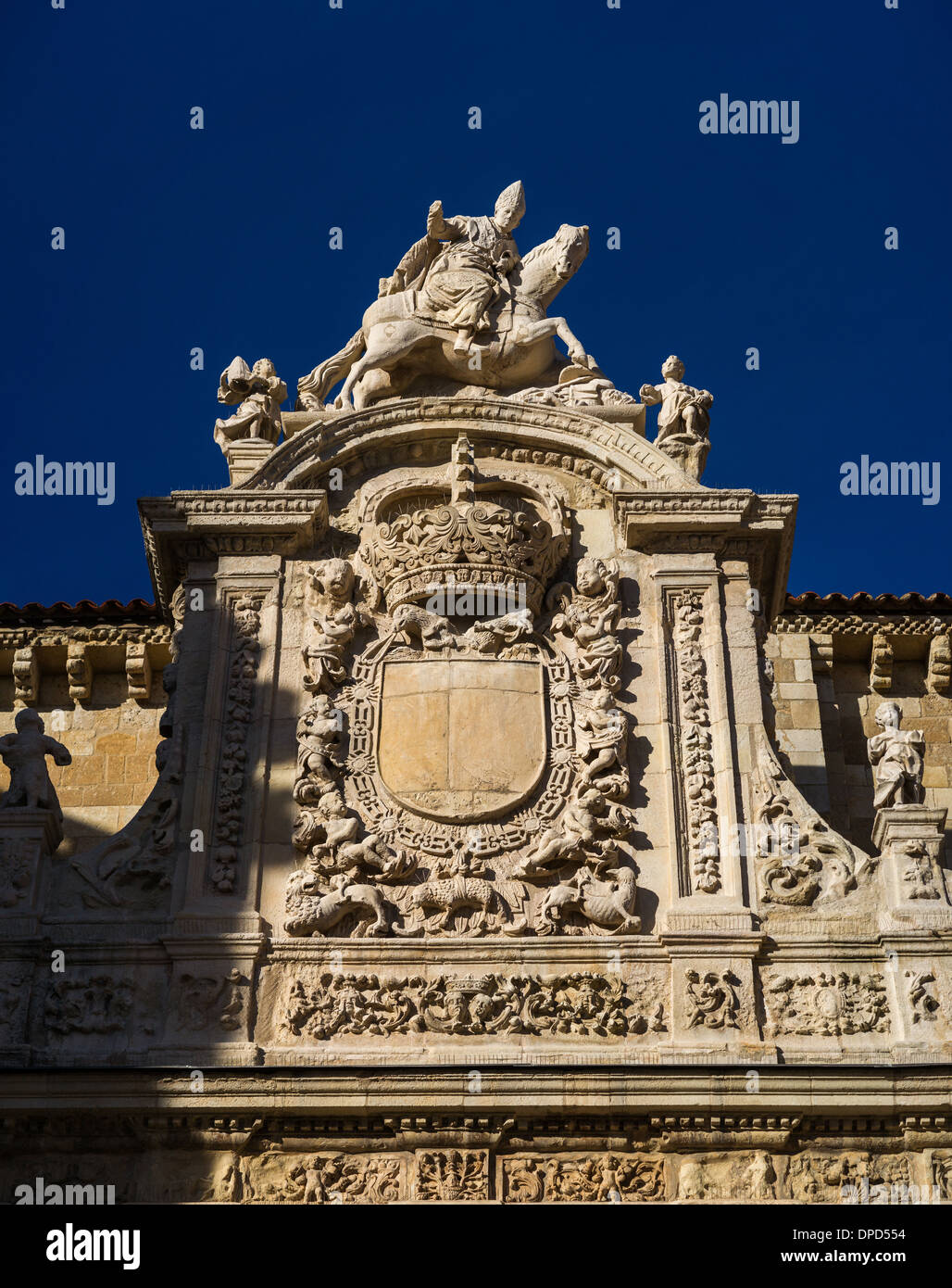 Detail of Puerta de Perdón. Basílica de San Isidoro in León, Spain Stock Photo