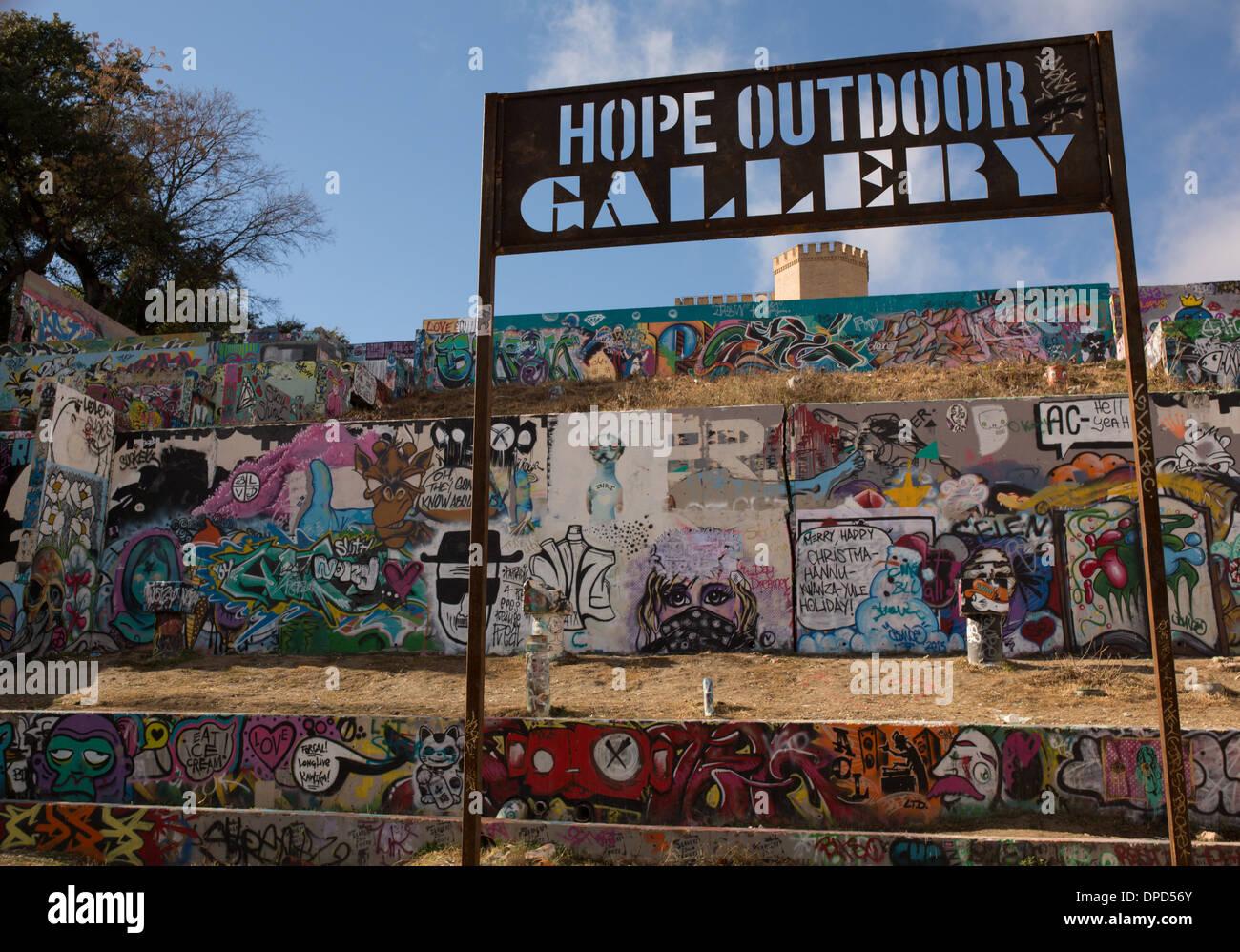 Hope outdoor gallery austin texas graffiti wall