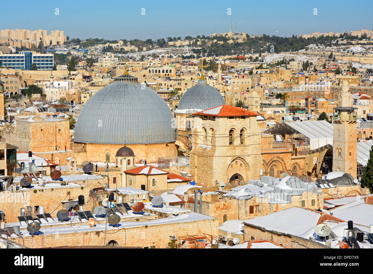 Church of the holy sepulchre Roof, Jerusalem, Israel - Stock Image