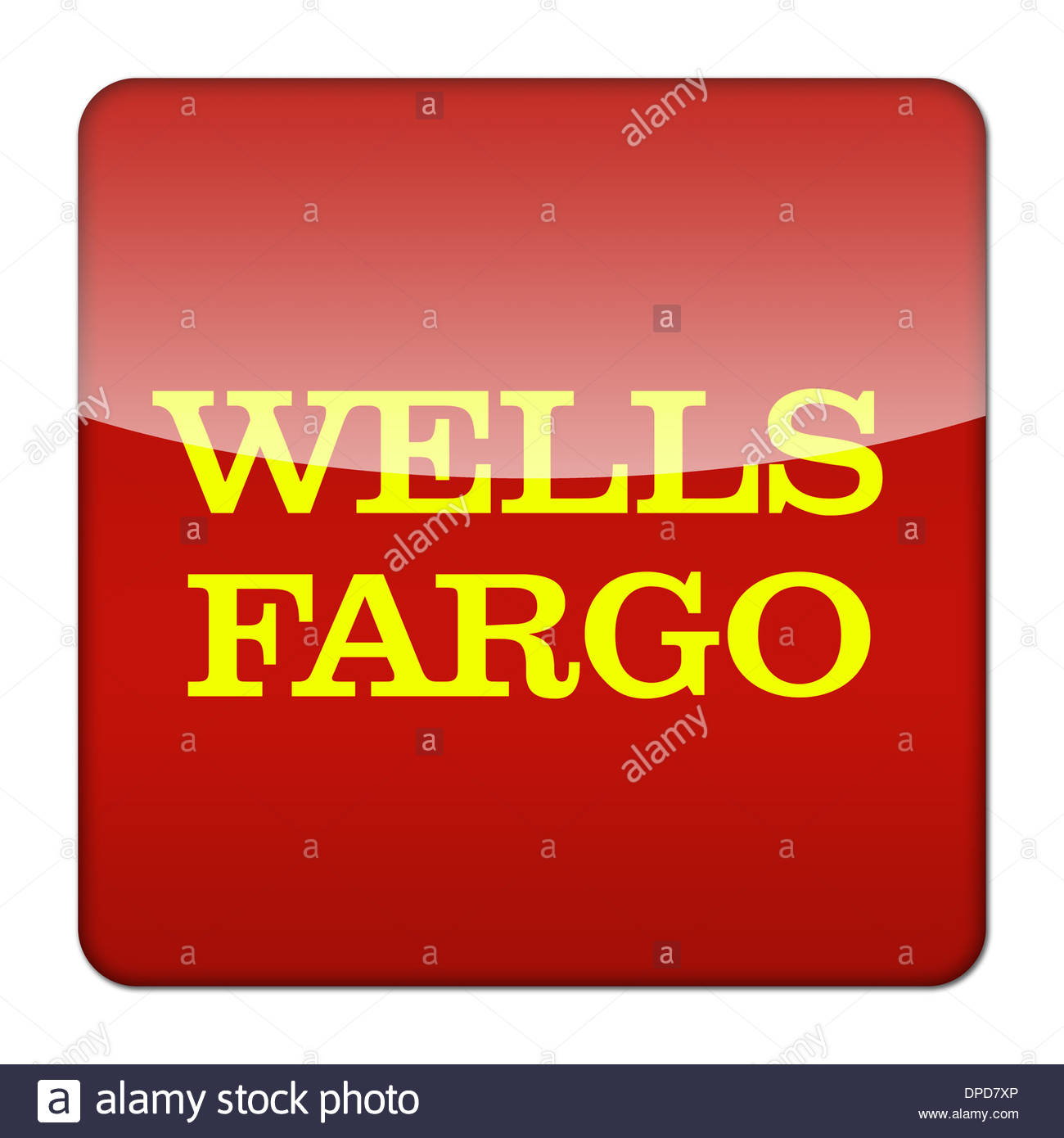 Wells Fargo Logo Icon App Flag Button Stock Photo 65445150 Alamy