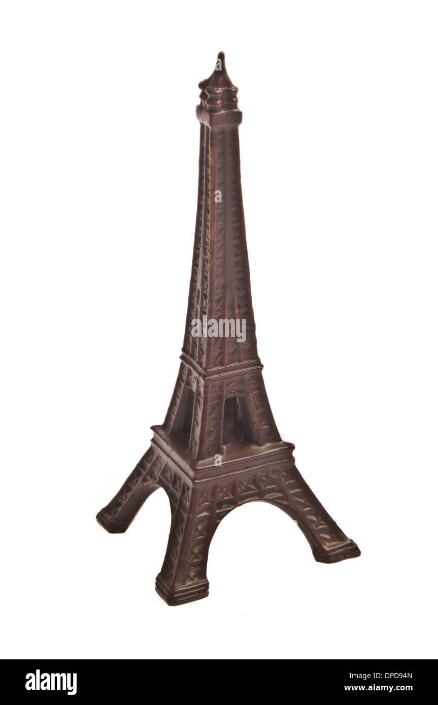 plastic replica of famous monument Tour Eiffel - Stock Image