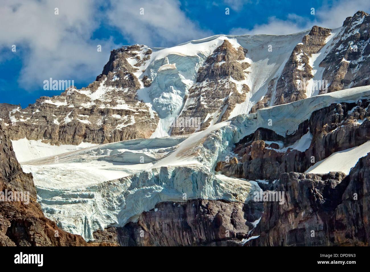 Mountain Glacier, Canadian Rockies in Alberta, Canada - Stock Image