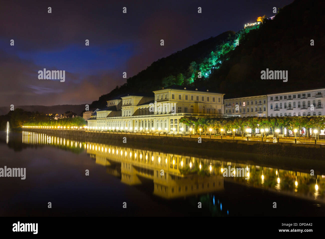 Germany, Rhineland-Palatinate, Bad Ems, Cure and helth resort building - Stock Image