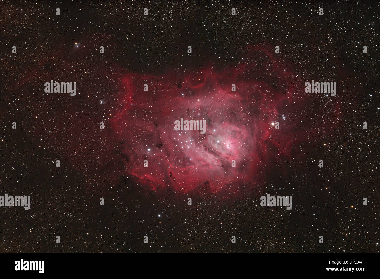 Laguna Nebula, emission nebula - Stock Image