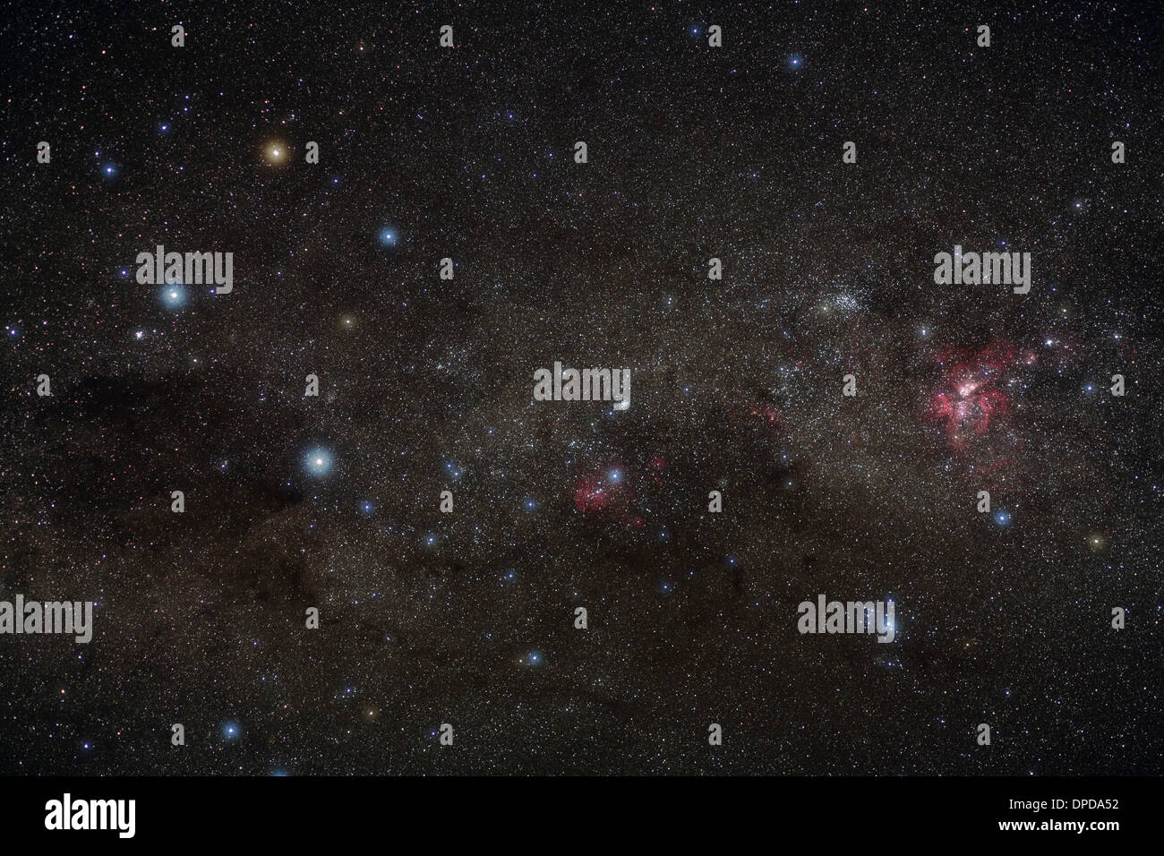 Southern cross, stellar constellation - Stock Image