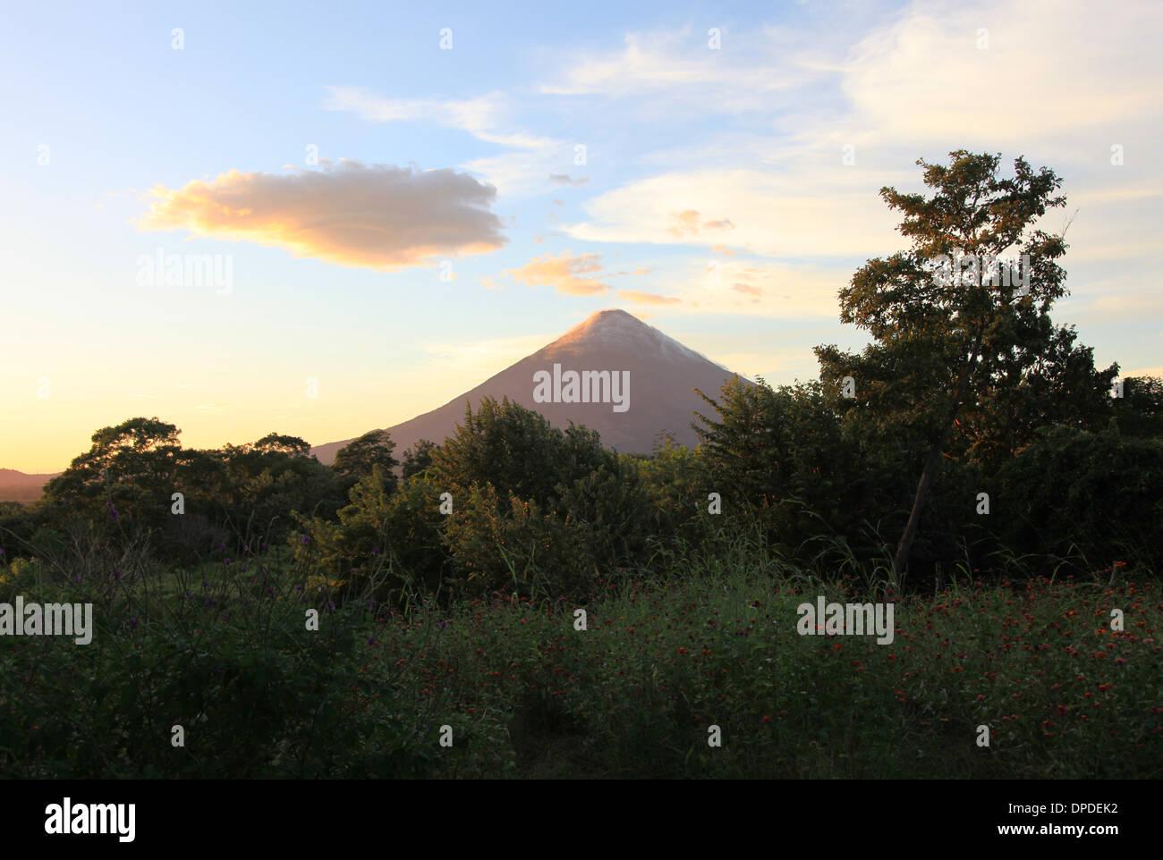 Concepción Volcano Isla de Ometepe Nicaragua Stock Photo