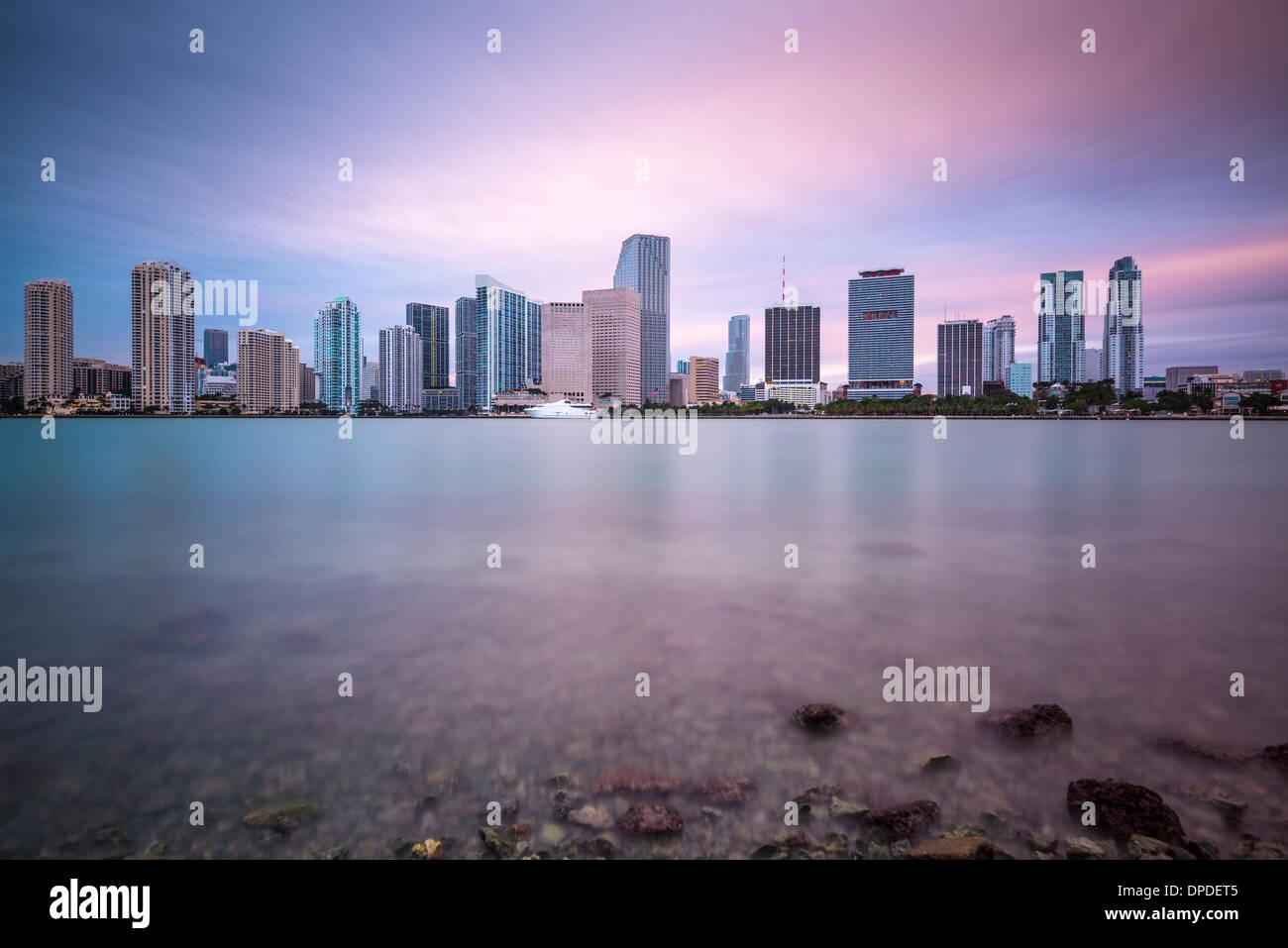 Miami, Florida, USA skyline at Biscayne Bay. - Stock Image