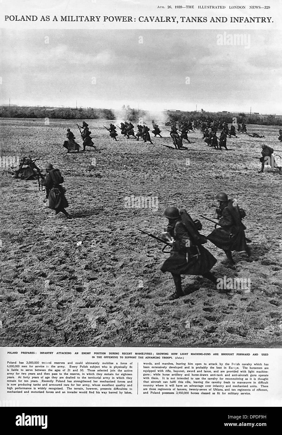 World War Two Polish infantry - Stock Image
