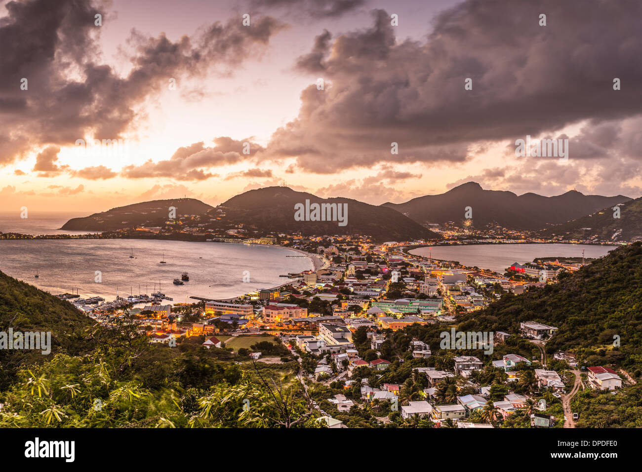 Philipsburg, Sint Maarten in the Caribbean. - Stock Image