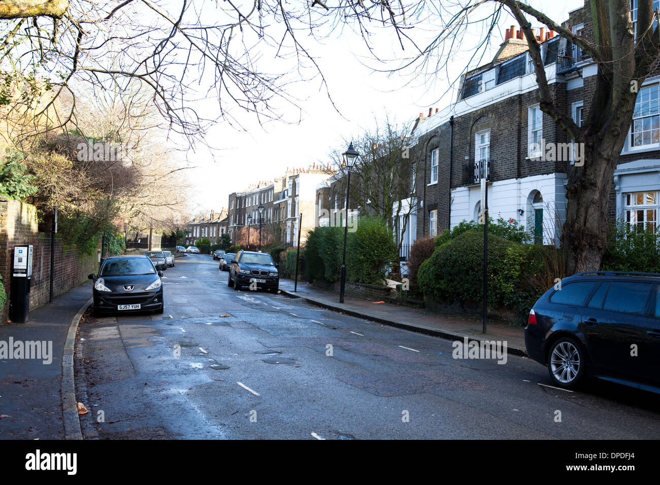 Canonbury Grove, Islington, North London, UK, Great Britain, England - Stock Image